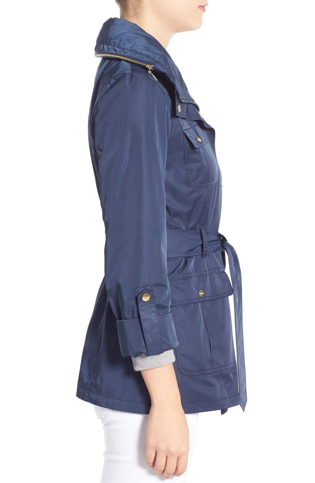 Techno Short Trench Coat,                             Alternate thumbnail 23, color,