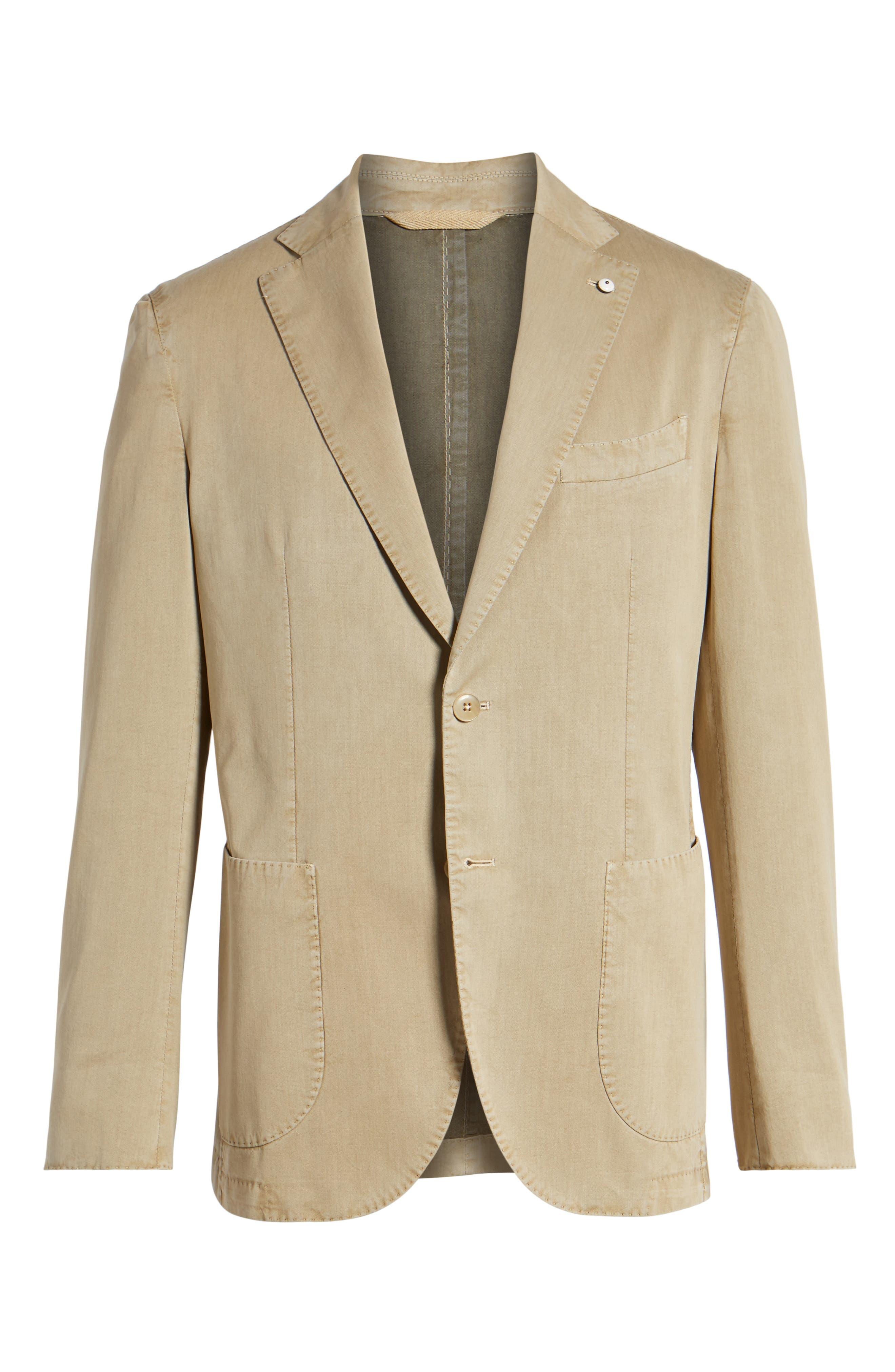 Classic Fit Cotton & Silk Blazer,                             Alternate thumbnail 5, color,