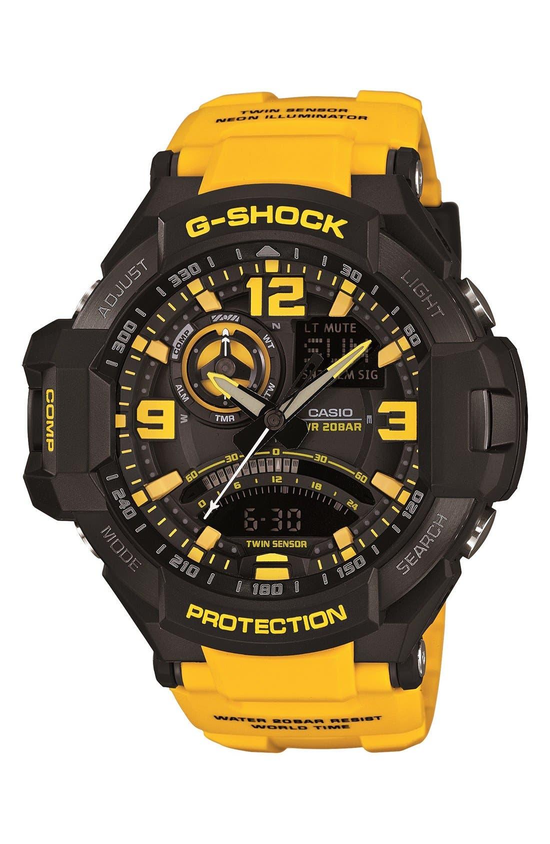 G-Shock 'Aviation' Ana-Digi Watch, 52mm,                             Main thumbnail 2, color,