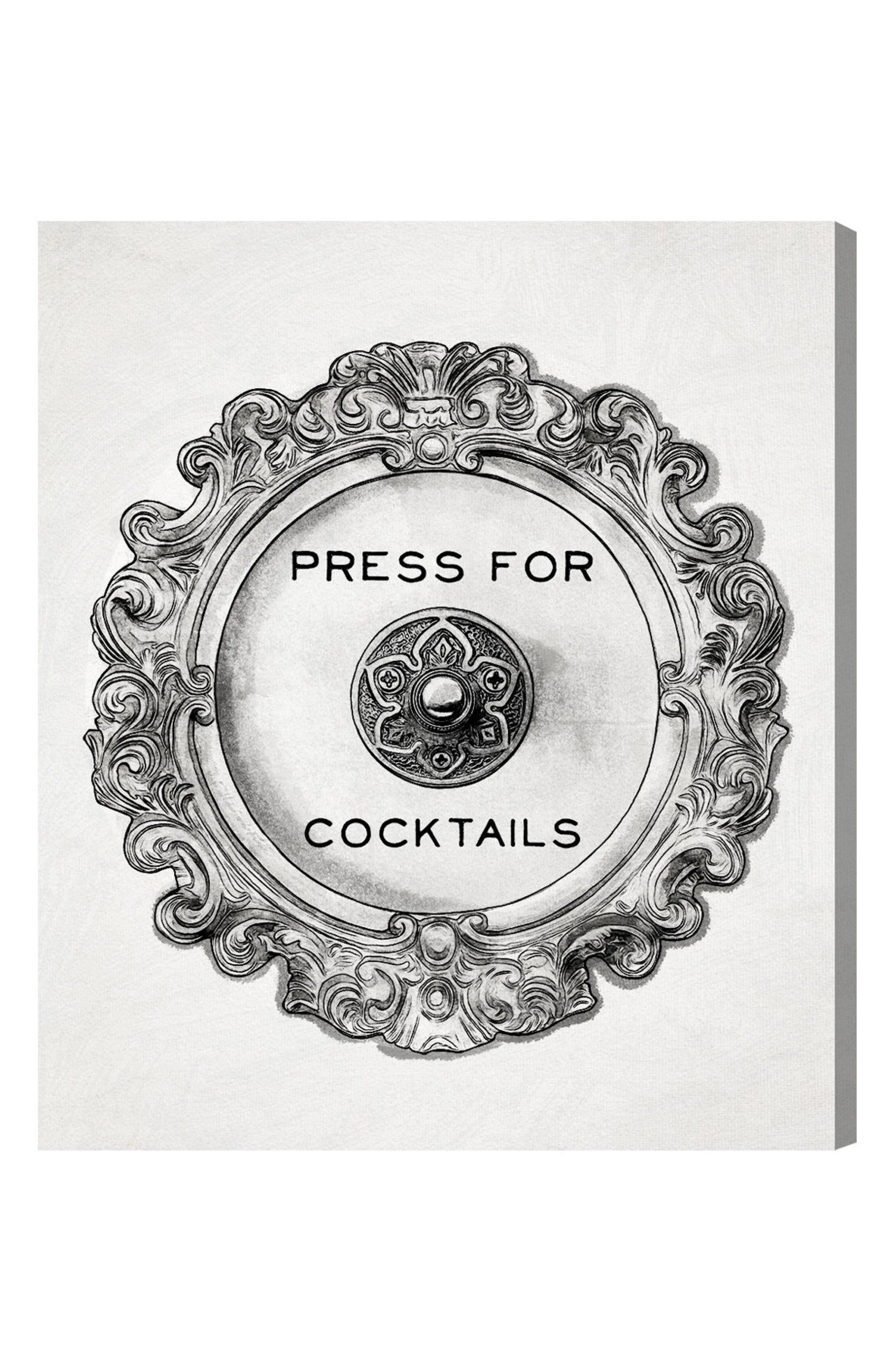 Press for Cocktails Canvas Wall Art,                         Main,                         color, 100