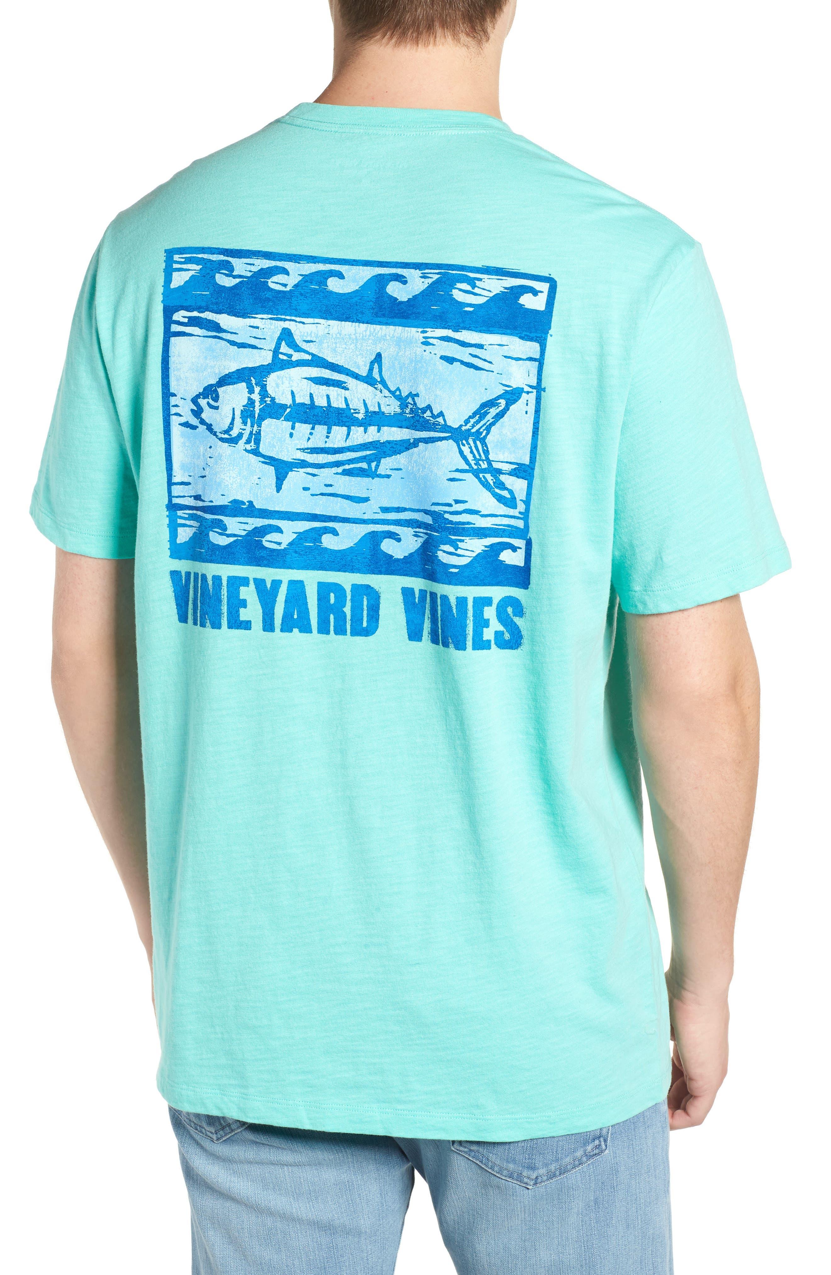 Woodblock Tuna T-Shirt,                             Alternate thumbnail 2, color,                             400