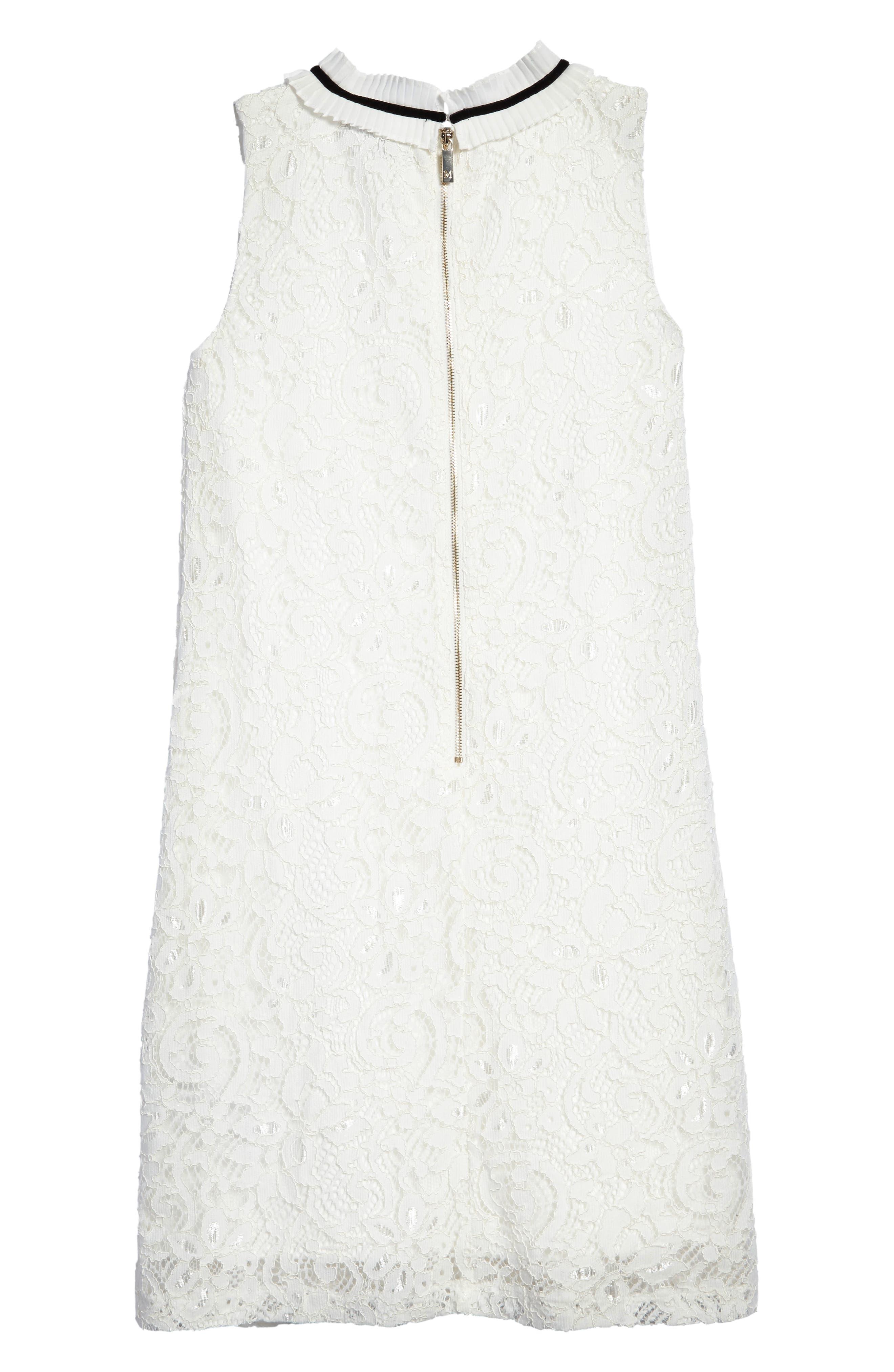 Sleeveless Lace Dress,                             Alternate thumbnail 2, color,                             118
