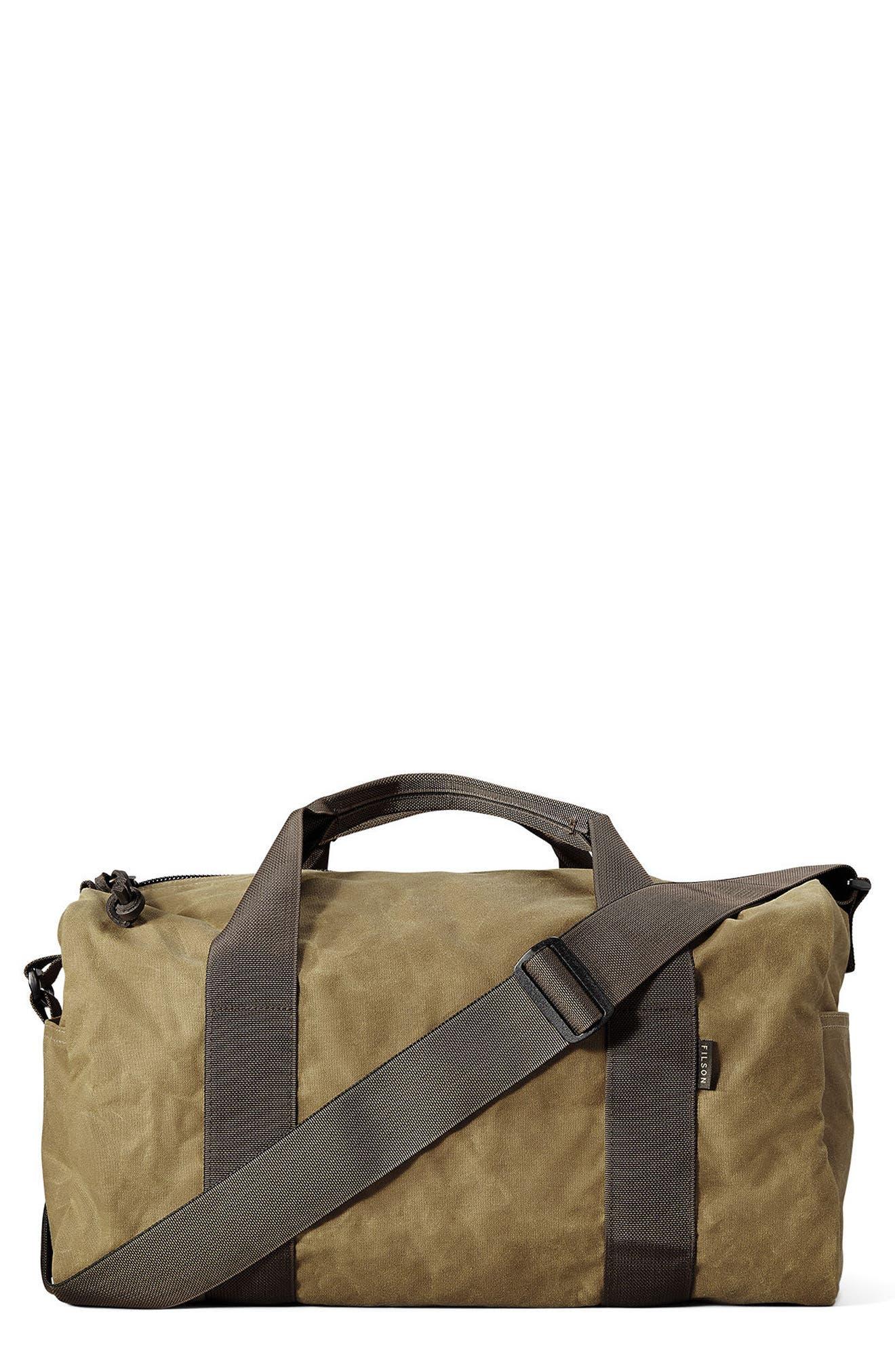 Small Field Duffel Bag,                             Main thumbnail 1, color,                             DARK TAN/ BROWN