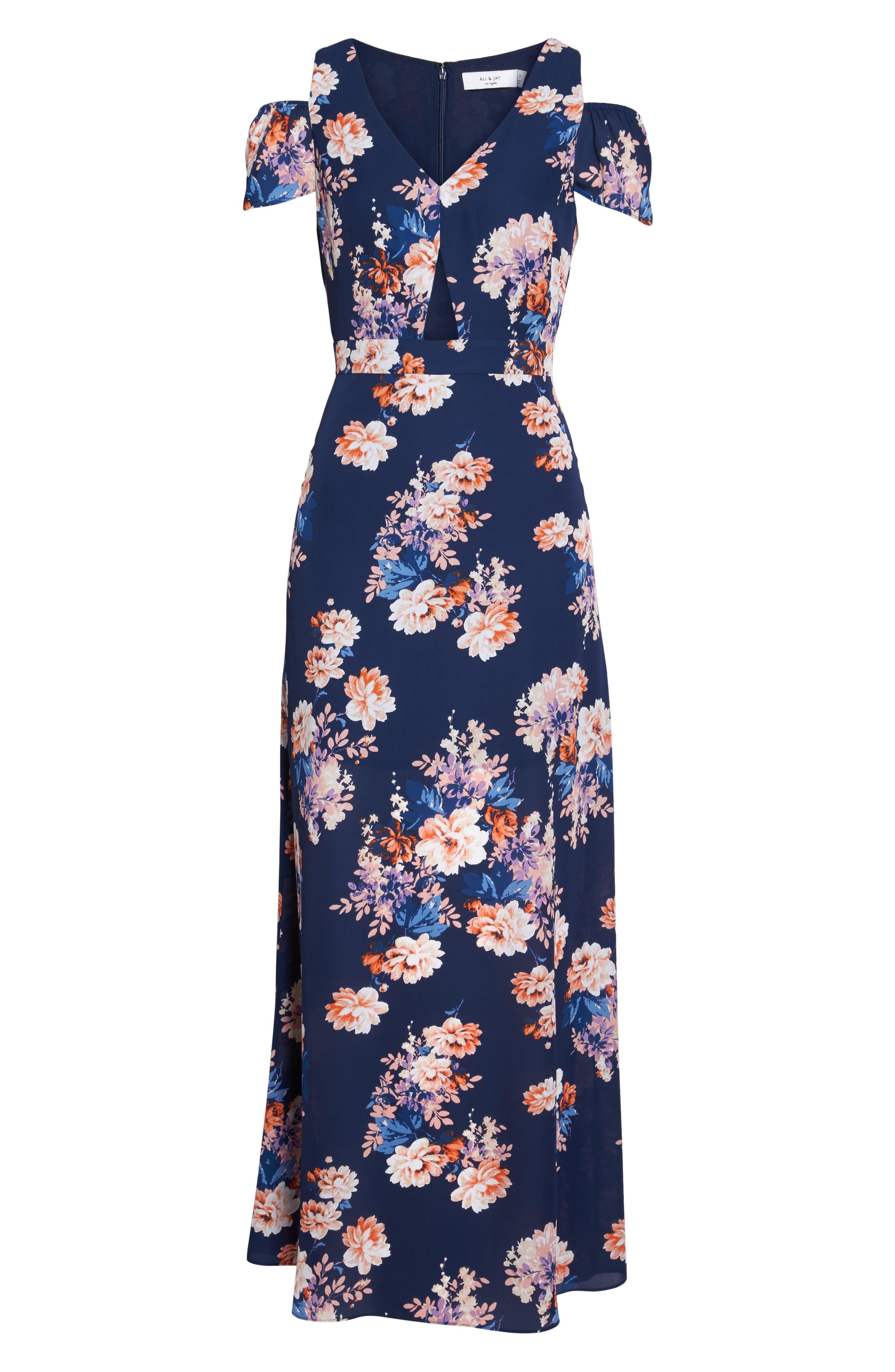 Chasing Butterflies Maxi Dress,                             Alternate thumbnail 6, color,                             400