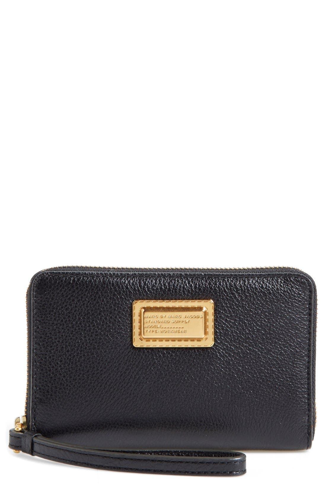 MARC BY MARC JACOBS 'Take Your Marc - Wingman' Smartphone Wristlet,                             Main thumbnail 1, color,                             001