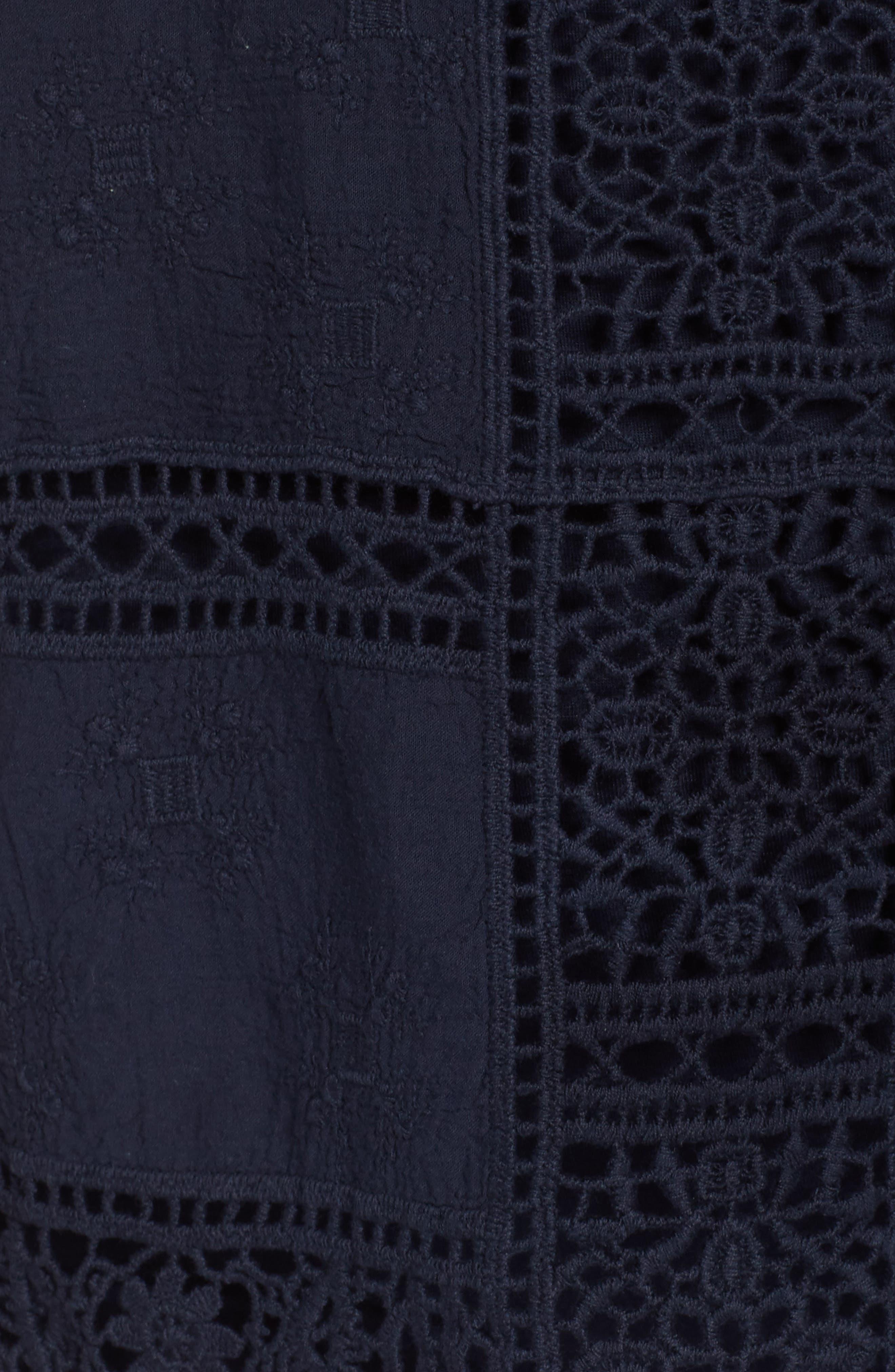 Flutter Sleeve Crochet Top,                             Alternate thumbnail 13, color,