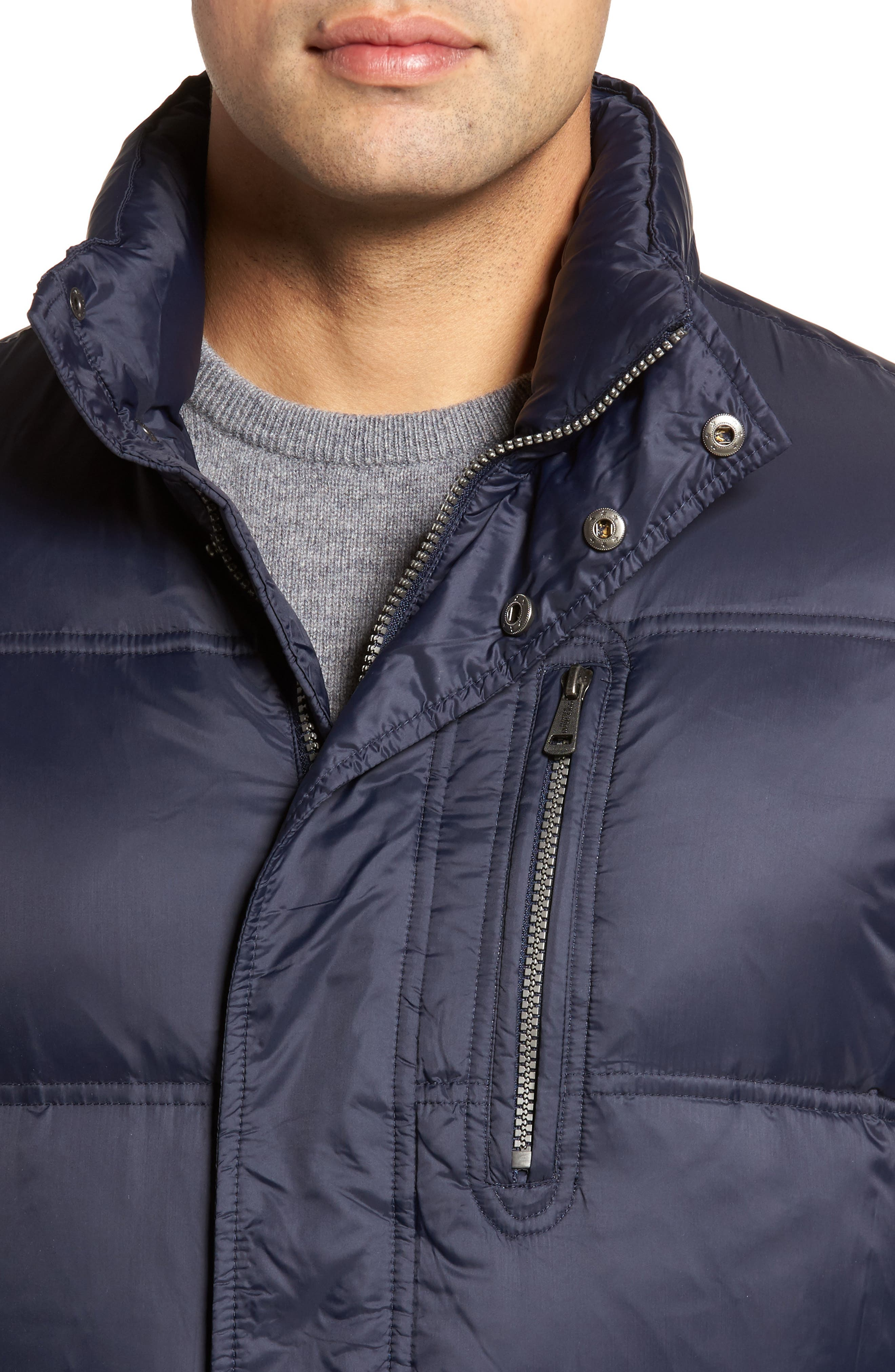 Quilted Jacket with Convertible Neck Pillow,                             Alternate thumbnail 4, color,                             NAVY