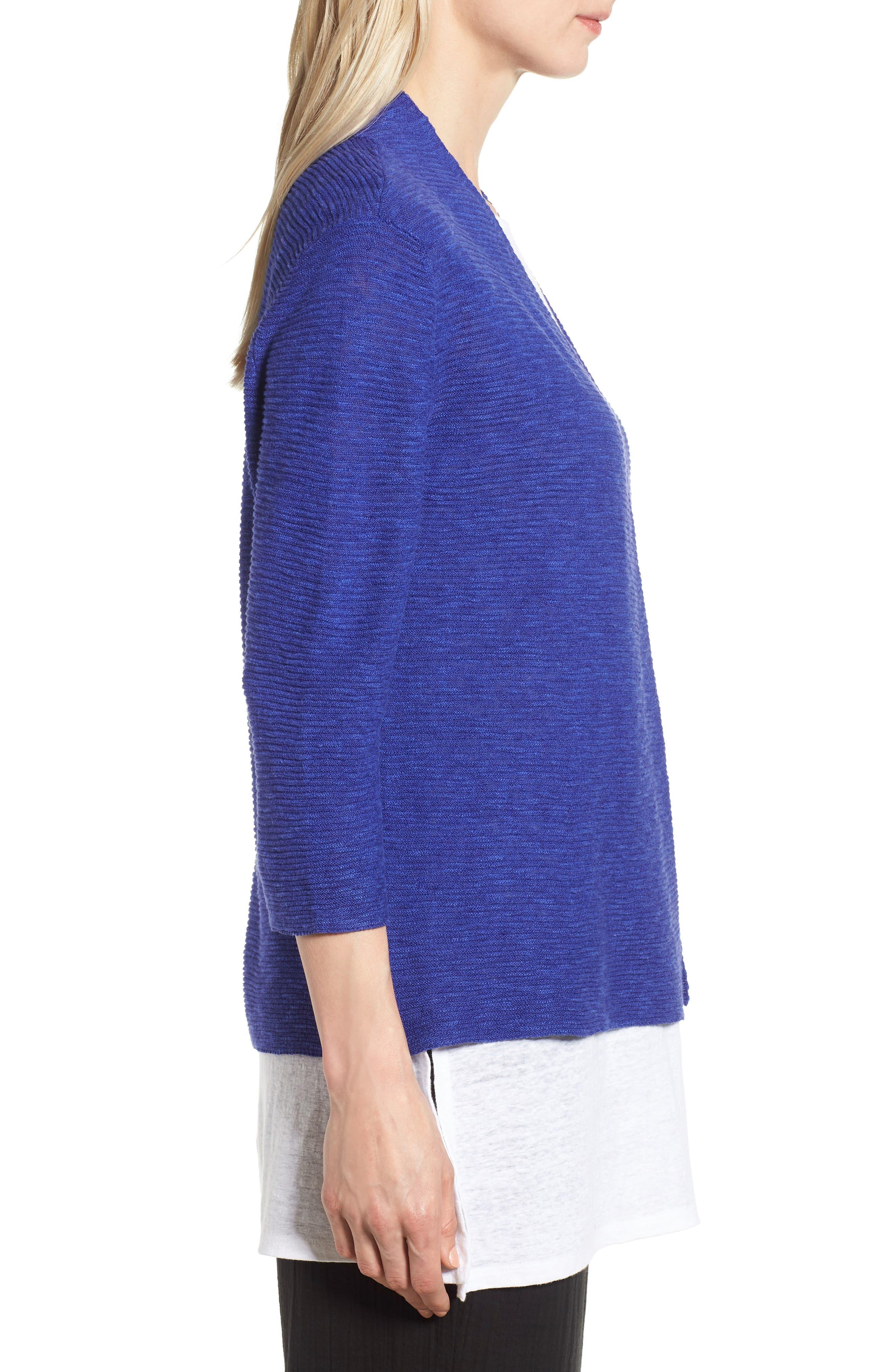 Simple Organic Linen & Cotton Cardigan,                             Alternate thumbnail 9, color,