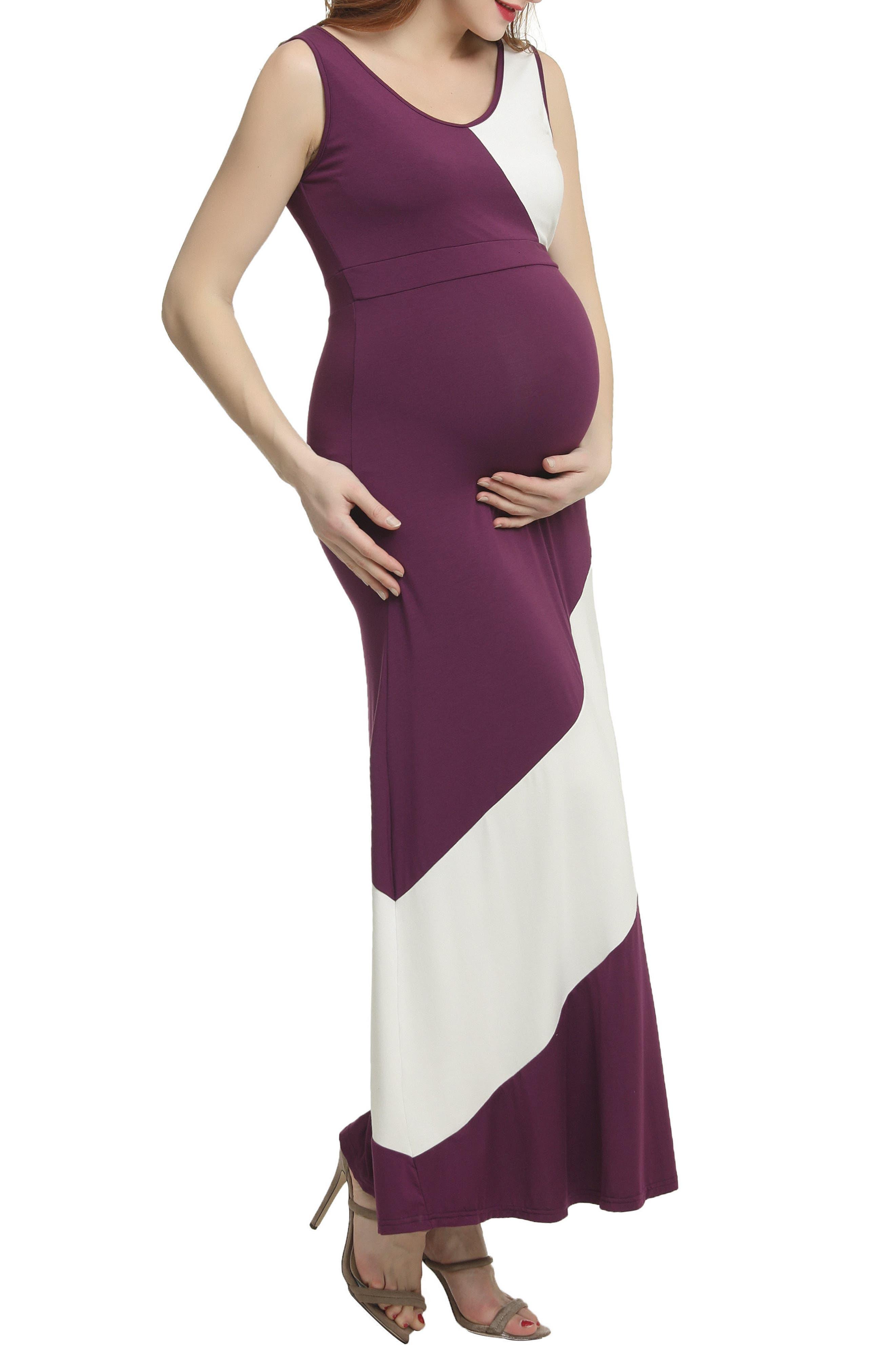 Kimi And Kai Kiersten Colorblock Maxi Dress, Purple