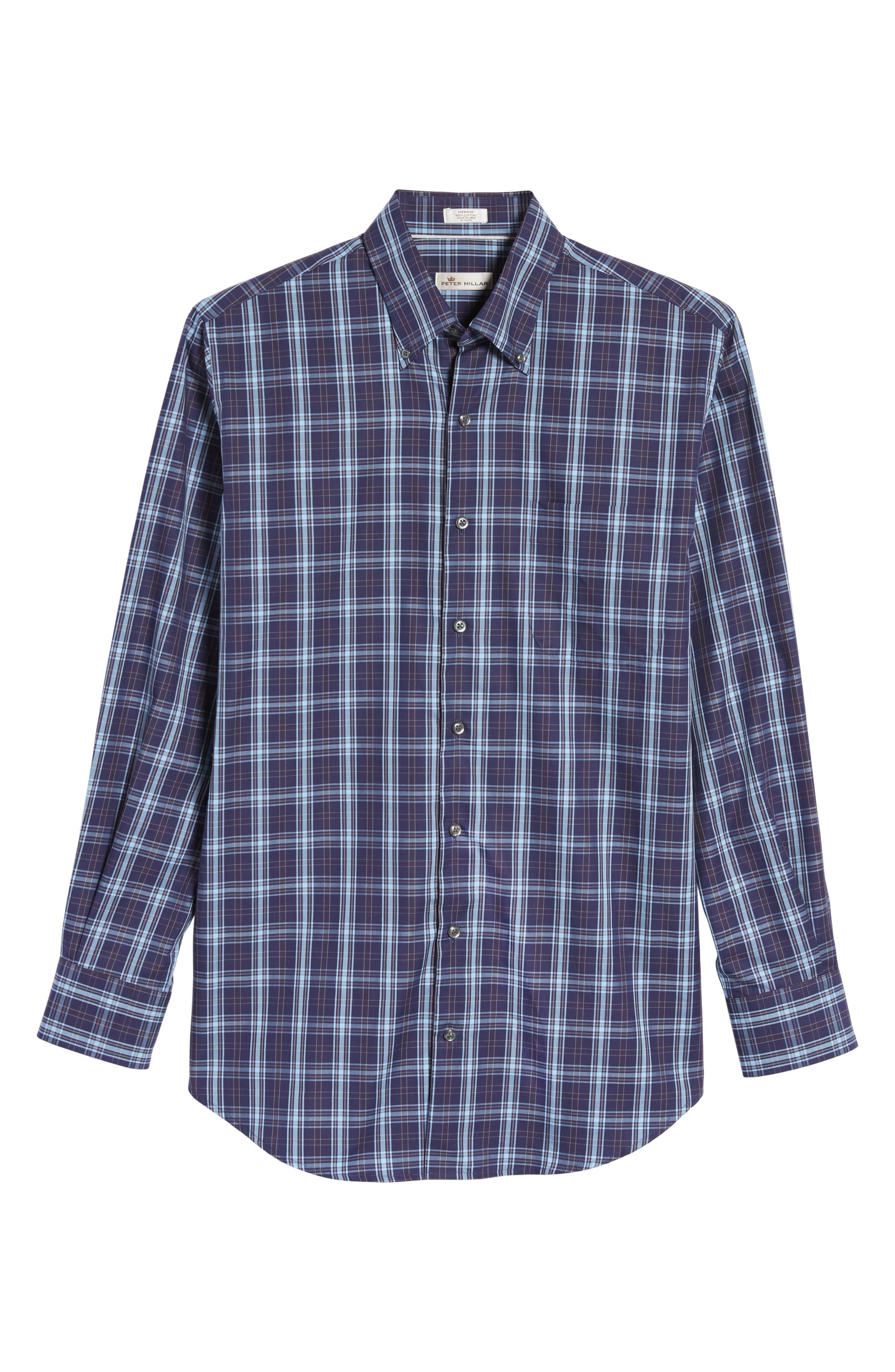 Regular Fit Blackfoot Plaid Sport Shirt,                             Alternate thumbnail 6, color,