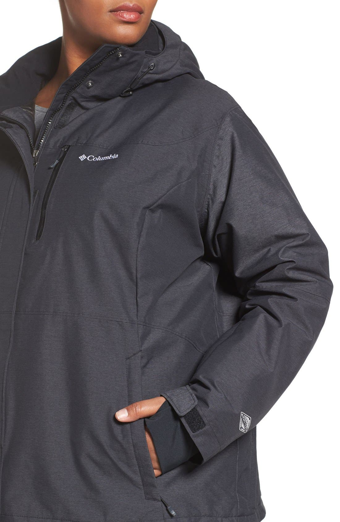 Alpine Action Waterproof Omni-Heat<sup>®</sup> Hooded Jacket,                             Alternate thumbnail 14, color,