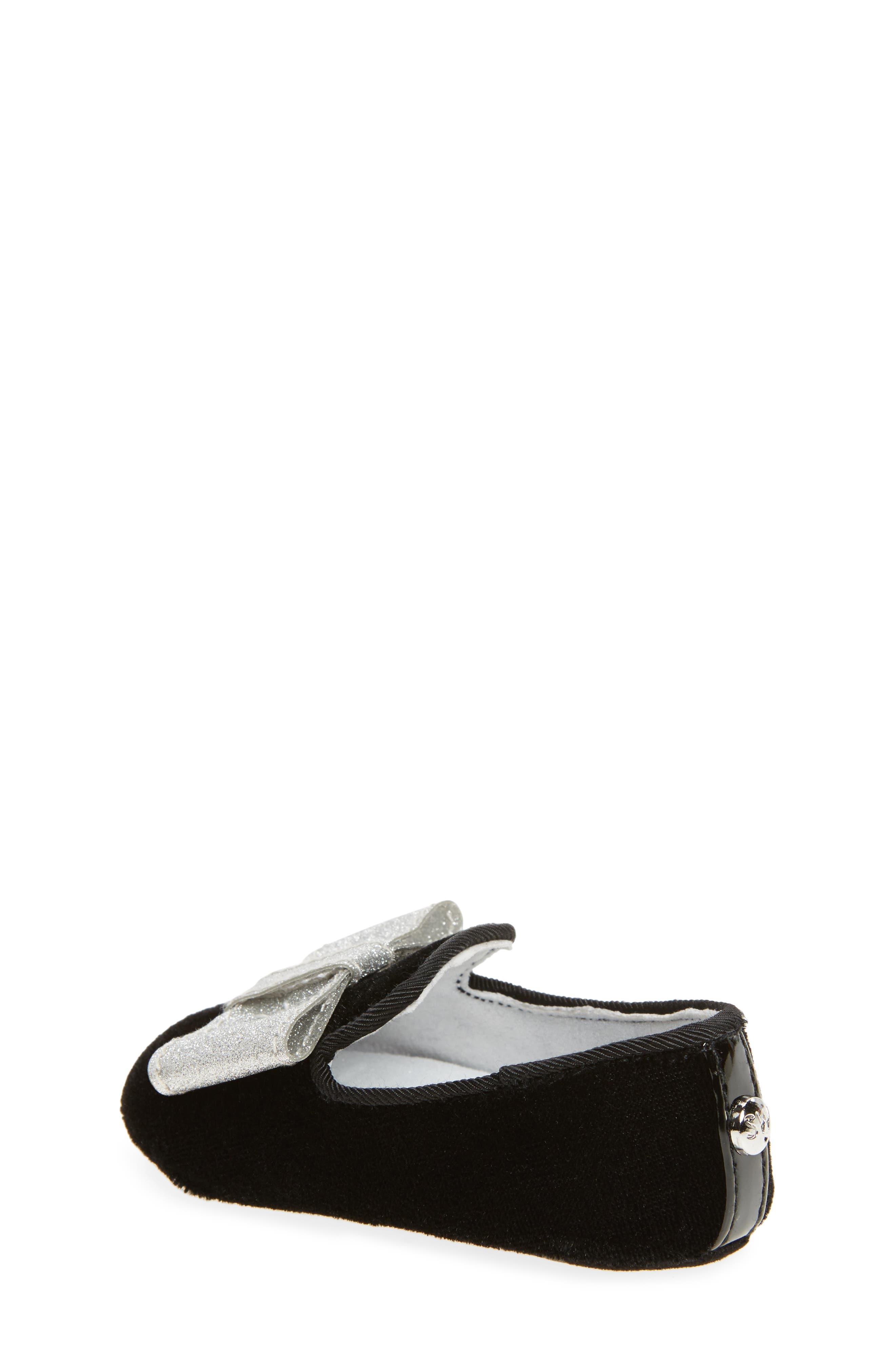 Bow Loafer Crib Shoe,                             Alternate thumbnail 2, color,                             012