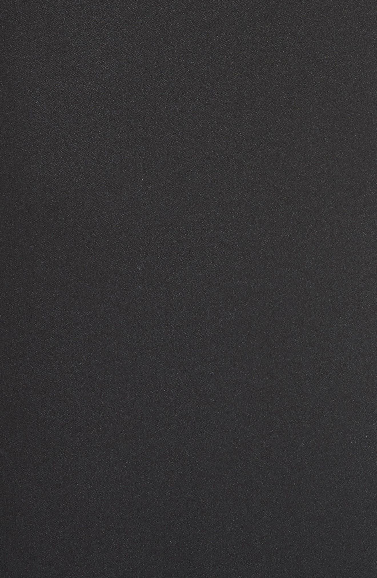 Drape Panel Silk Skirt,                             Alternate thumbnail 5, color,                             BLACK