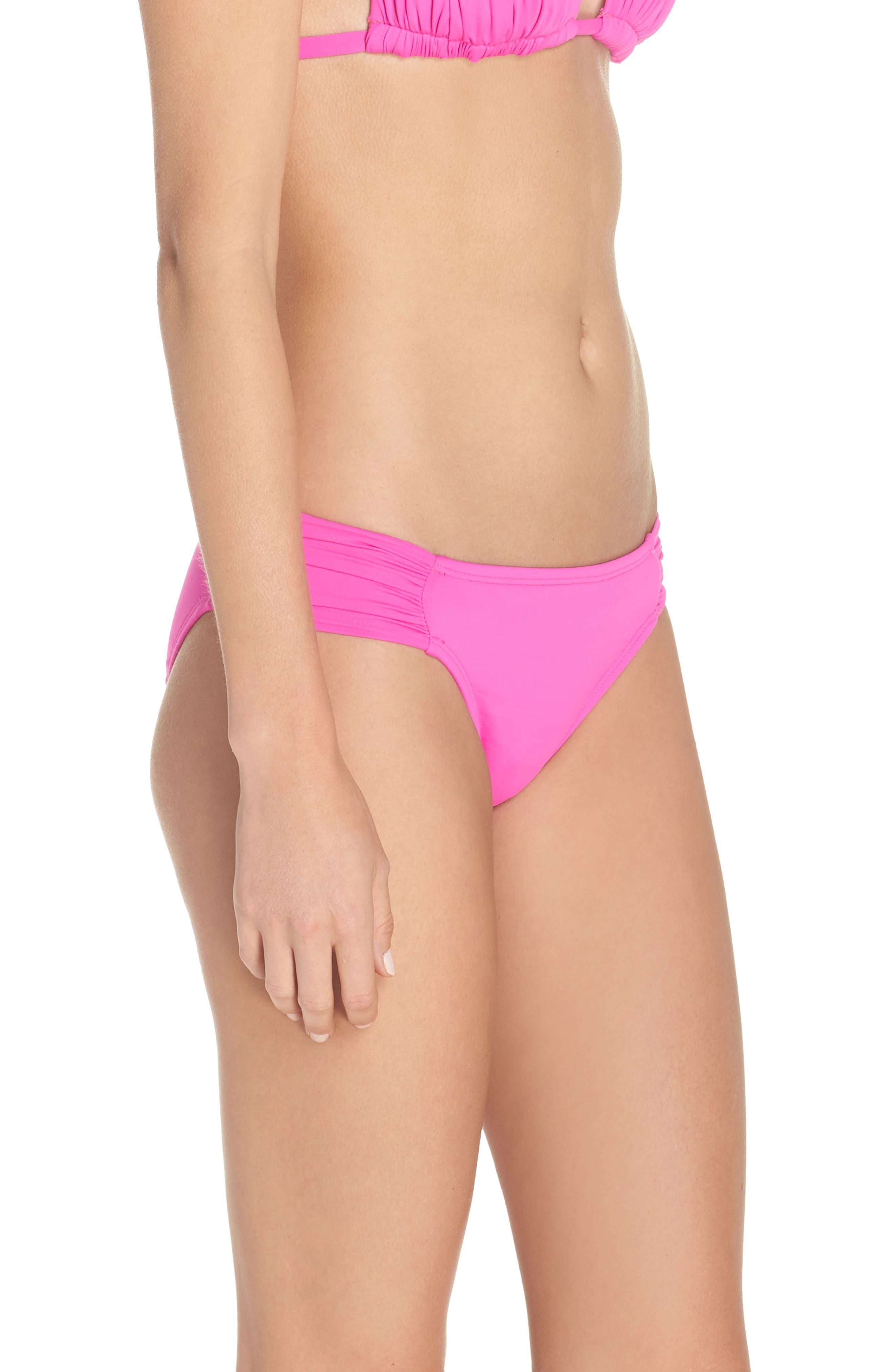 Island Blanca Halter Bikini Top,                             Alternate thumbnail 3, color,                             ELECTRIC PINK