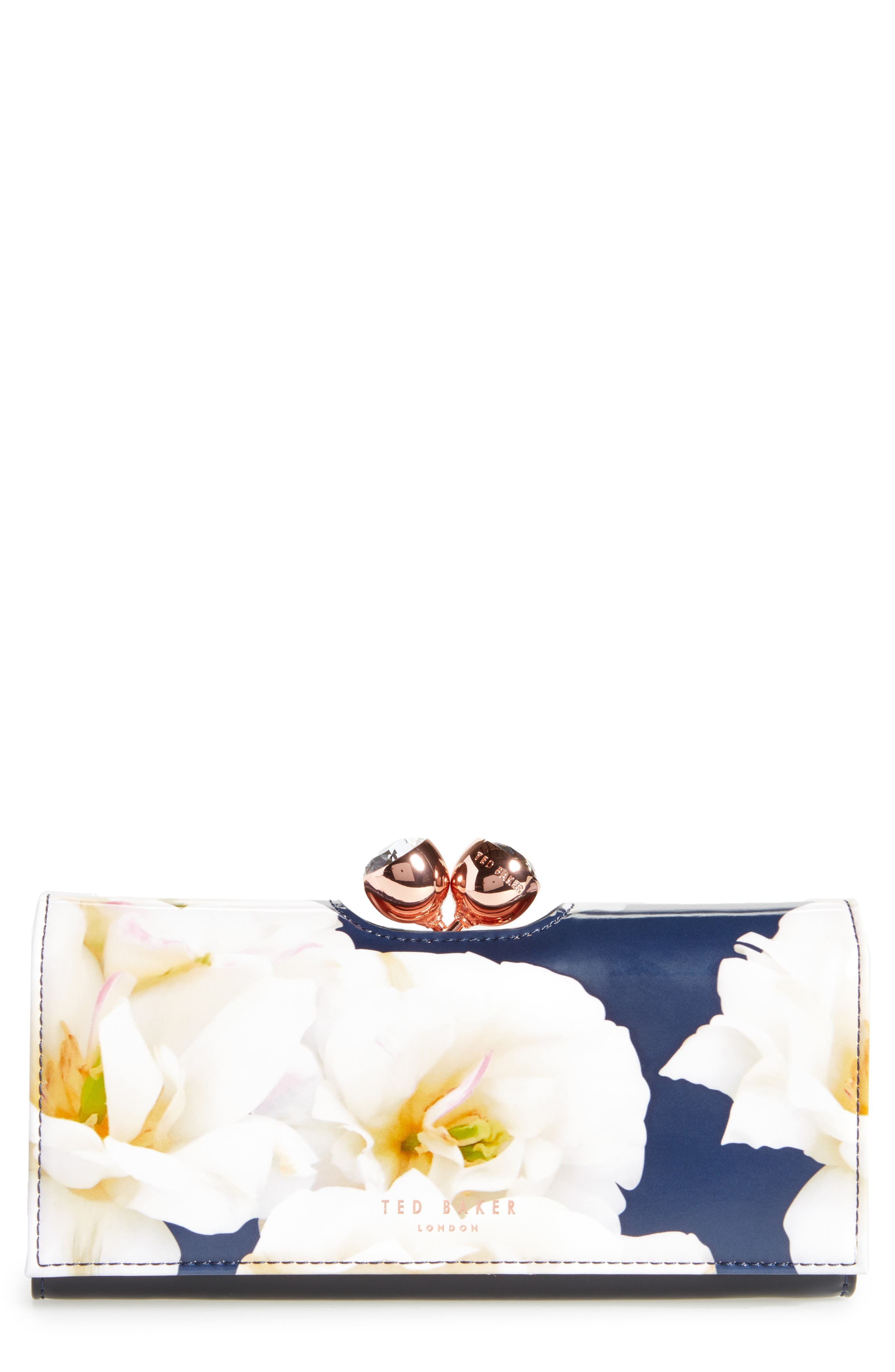 Jamiee Gardenia Leather Matinée Wallet,                         Main,                         color,