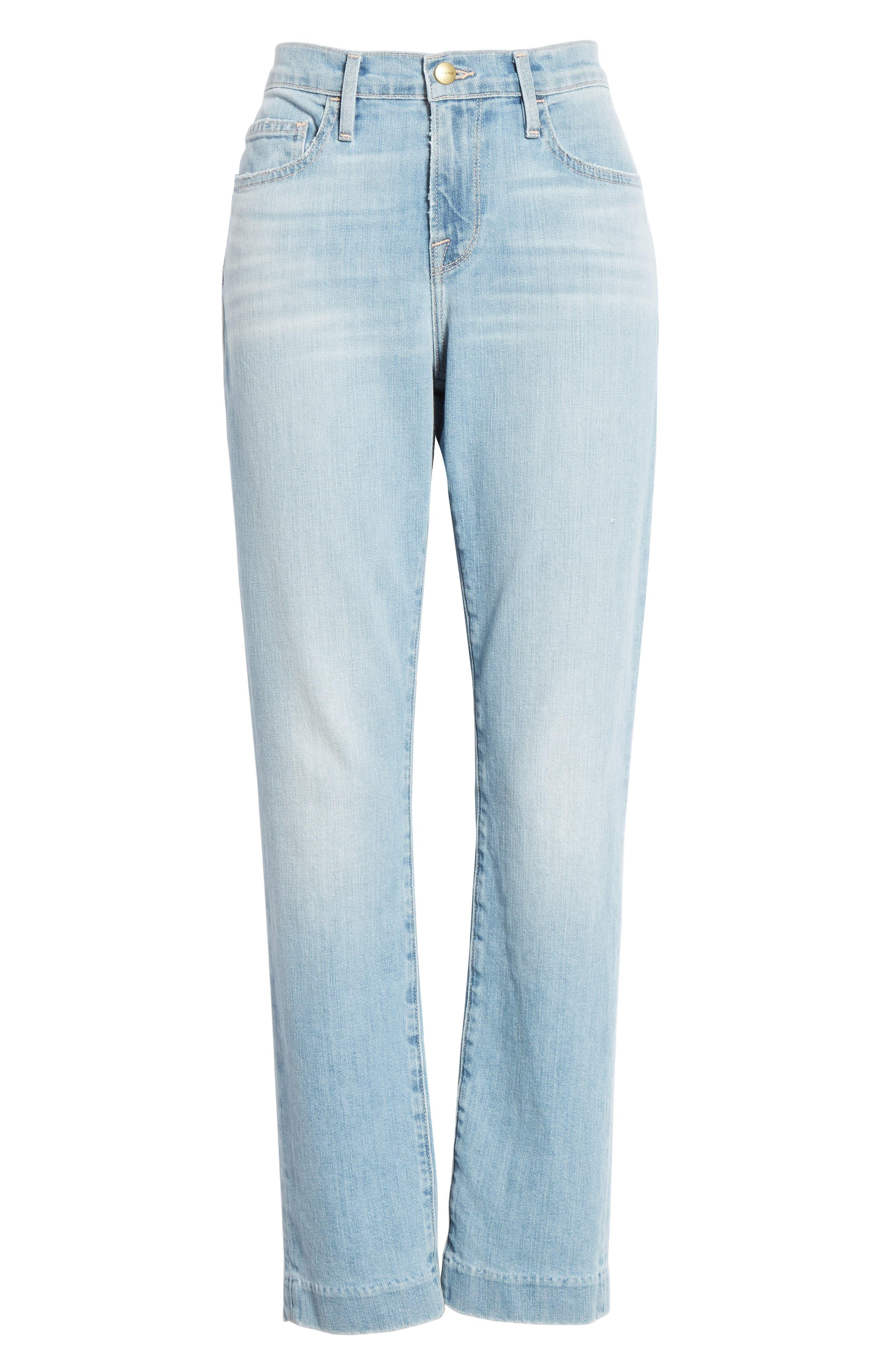 Le Boy High Waist Jeans,                             Alternate thumbnail 6, color,                             KEATON