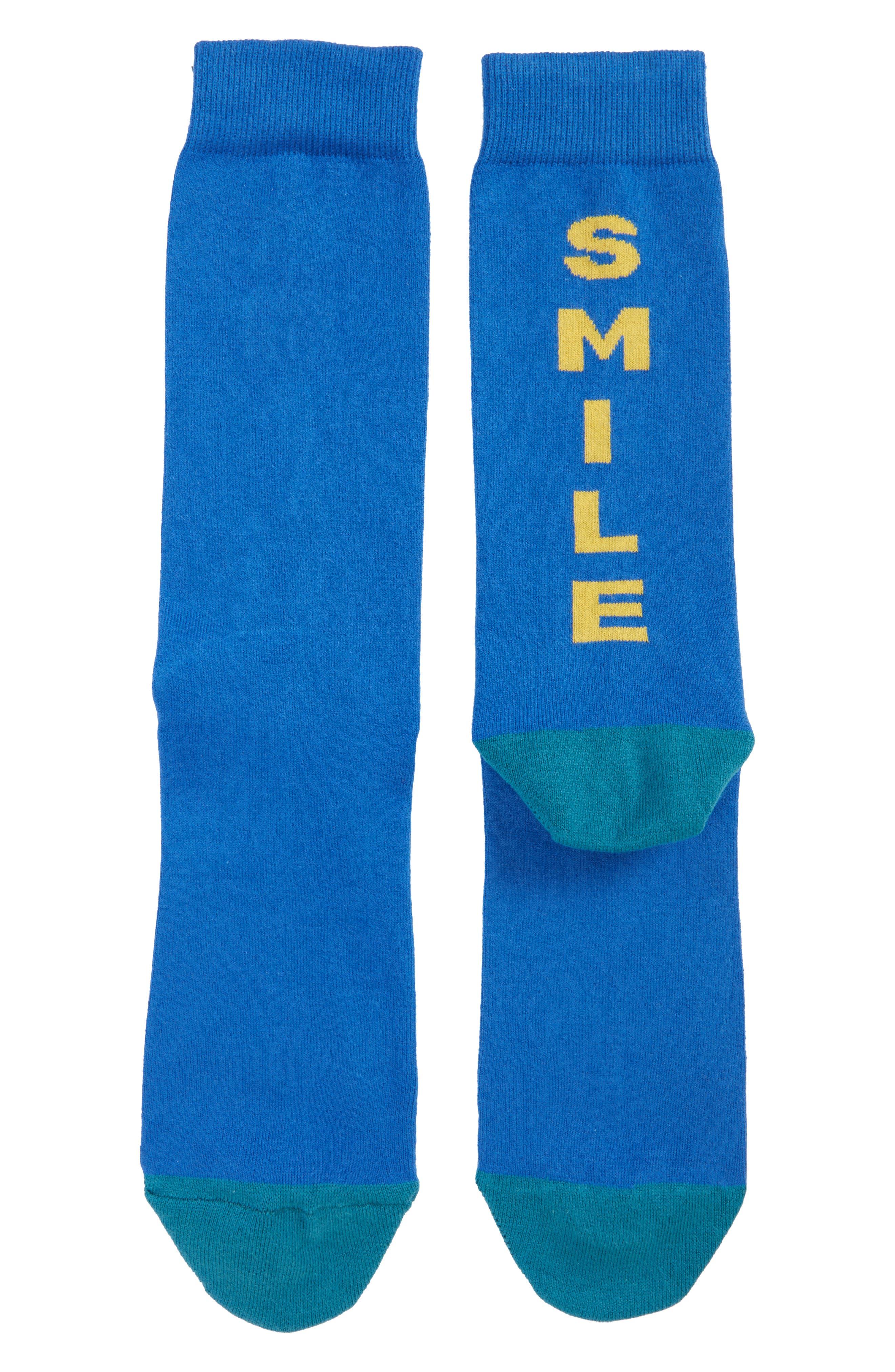 Scribble Crew Socks,                             Main thumbnail 3, color,