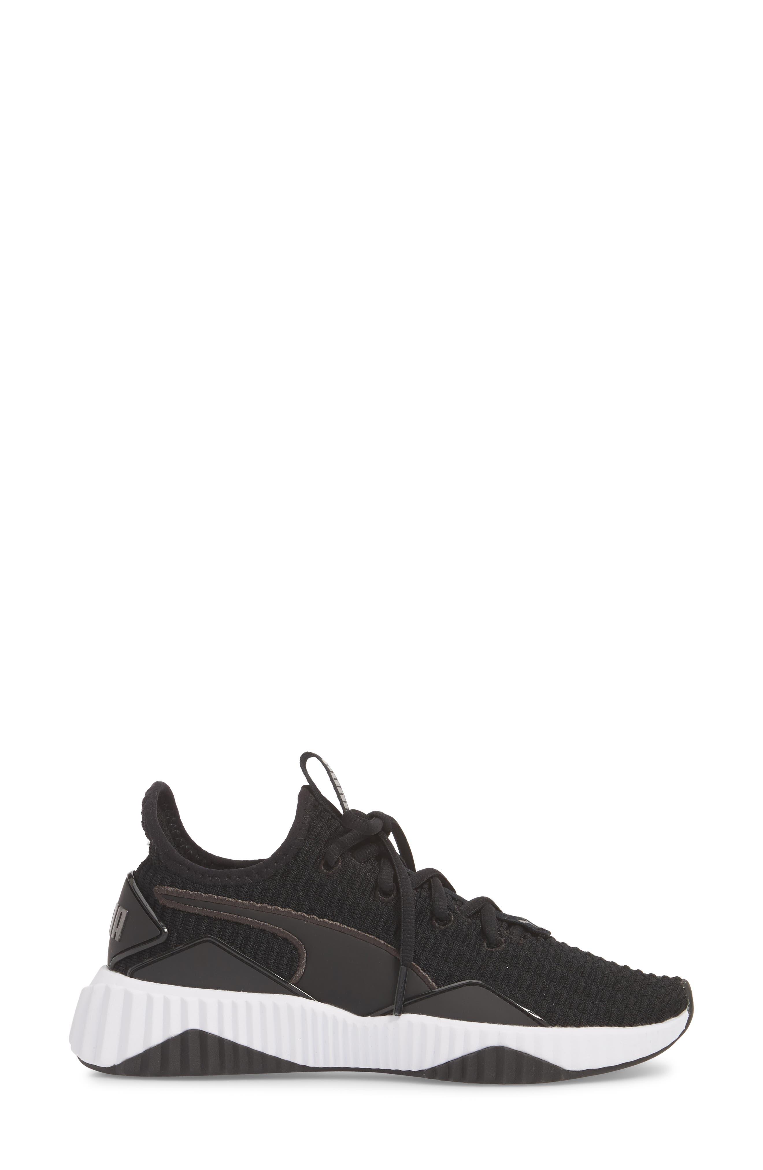 Defy Sneaker,                             Alternate thumbnail 3, color,                             001