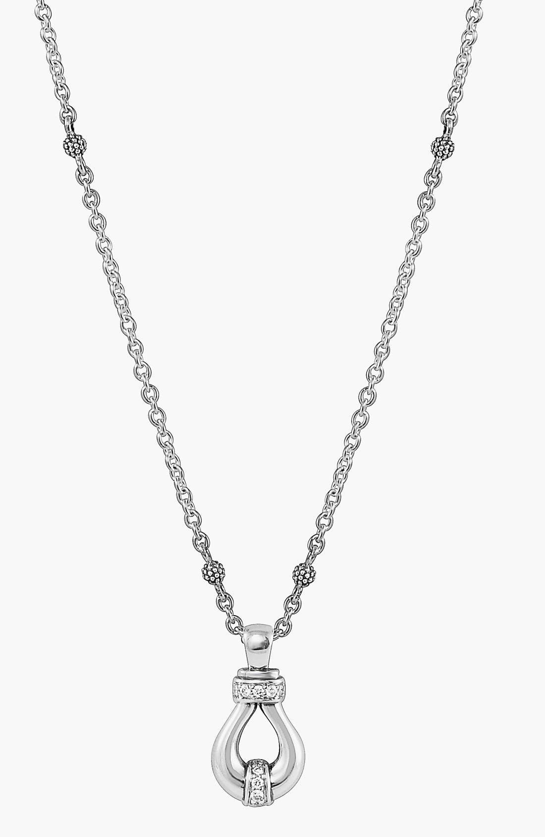 'Derby' Diamond Pendant Necklace,                             Alternate thumbnail 5, color,                             040