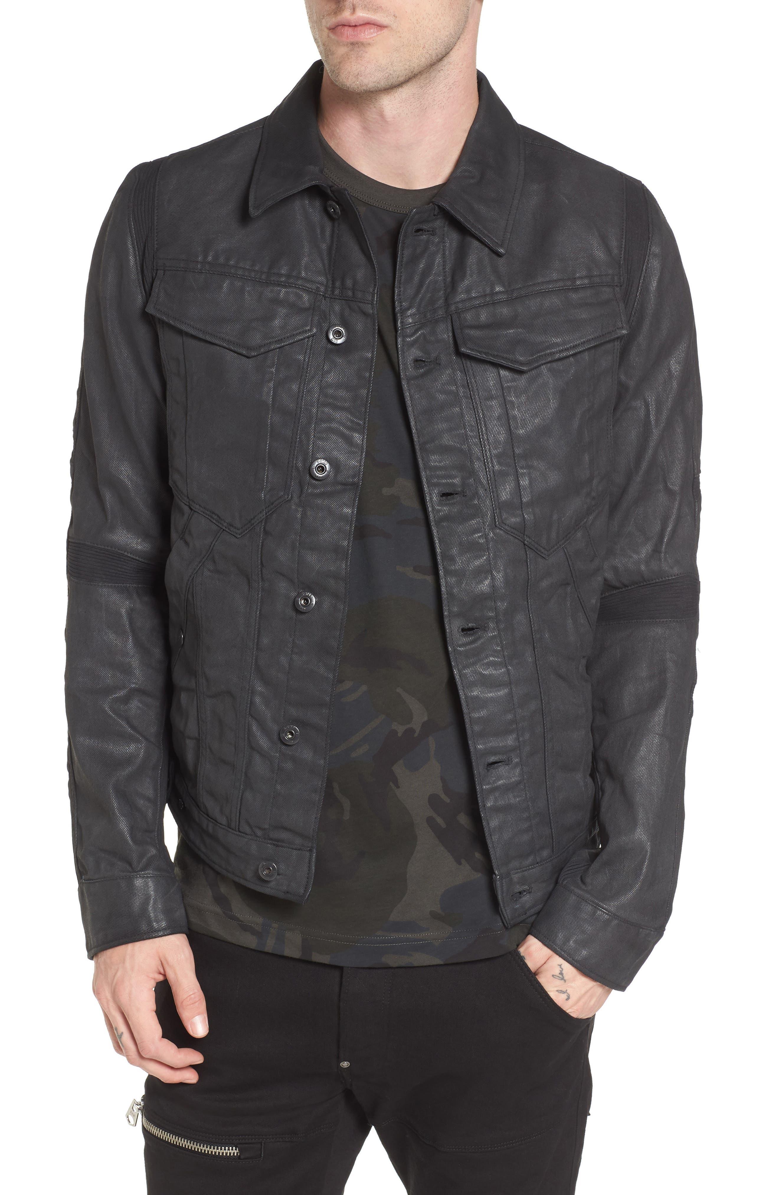 Motac 3D Slim Denim Jacket,                             Main thumbnail 1, color,                             001