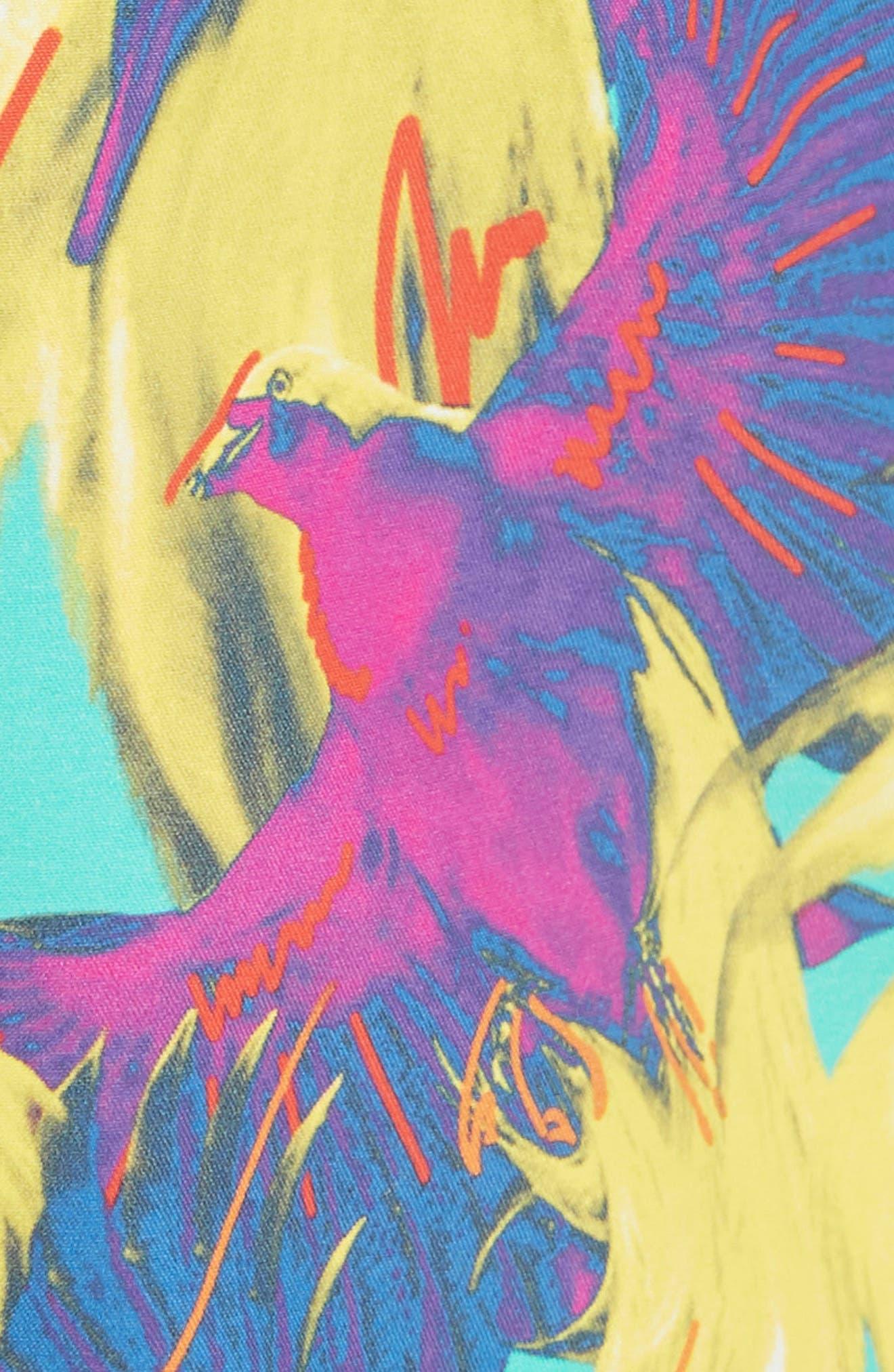 Birds of Paradise Swim Trunks,                             Alternate thumbnail 5, color,                             VERONESE GREEN