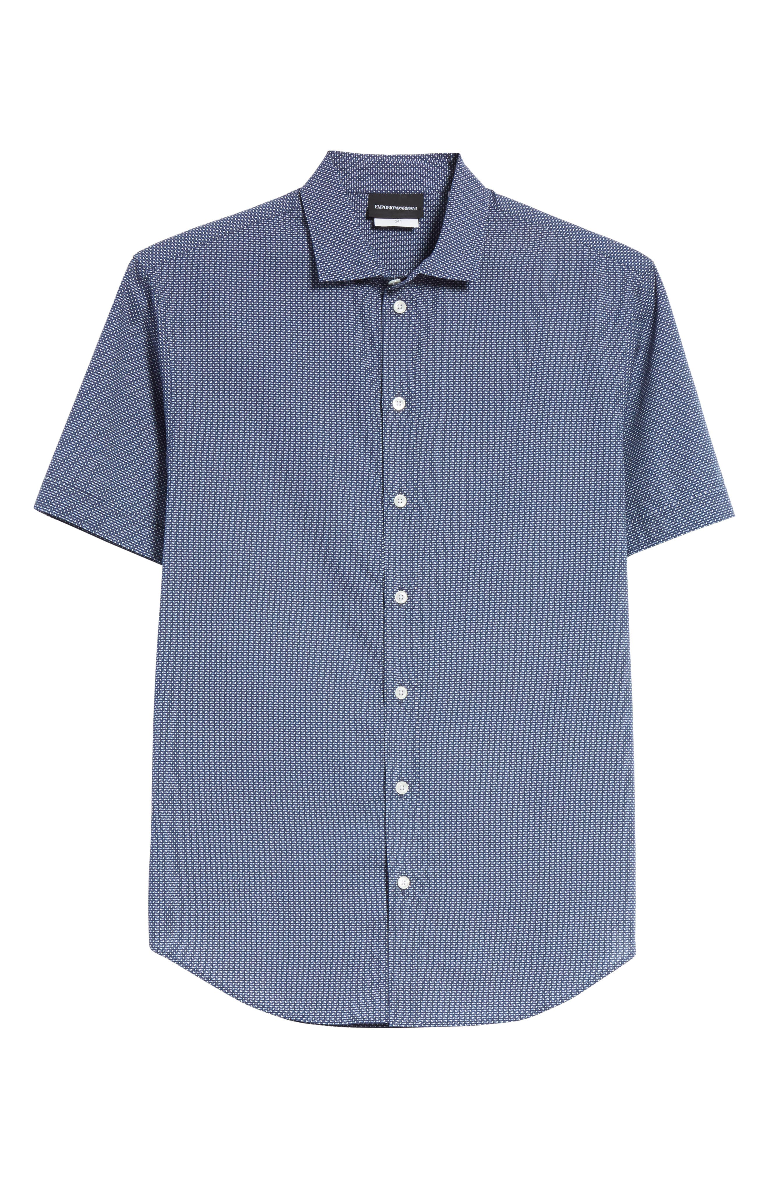 Regular Fit Geometric Print Sport Shirt,                             Alternate thumbnail 6, color,