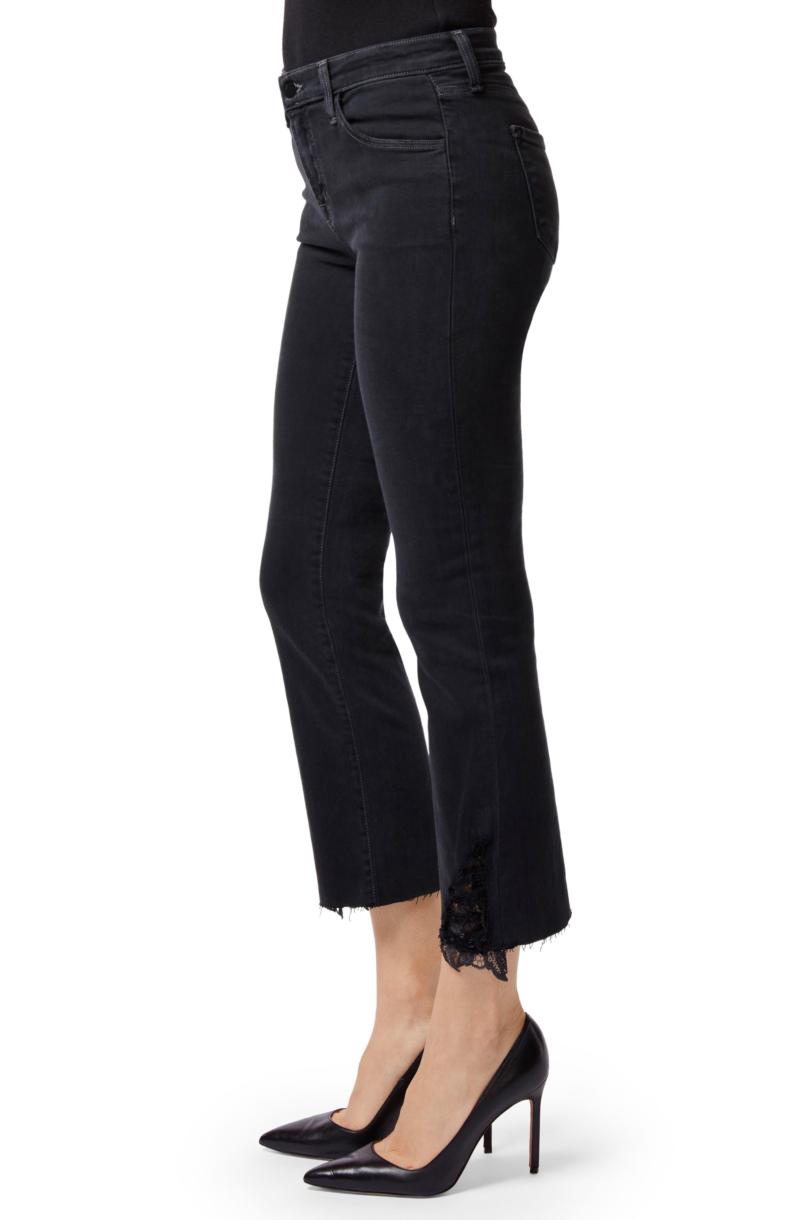 J BRAND,                             Selena Crop Bootcut Jeans,                             Alternate thumbnail 3, color,                             001