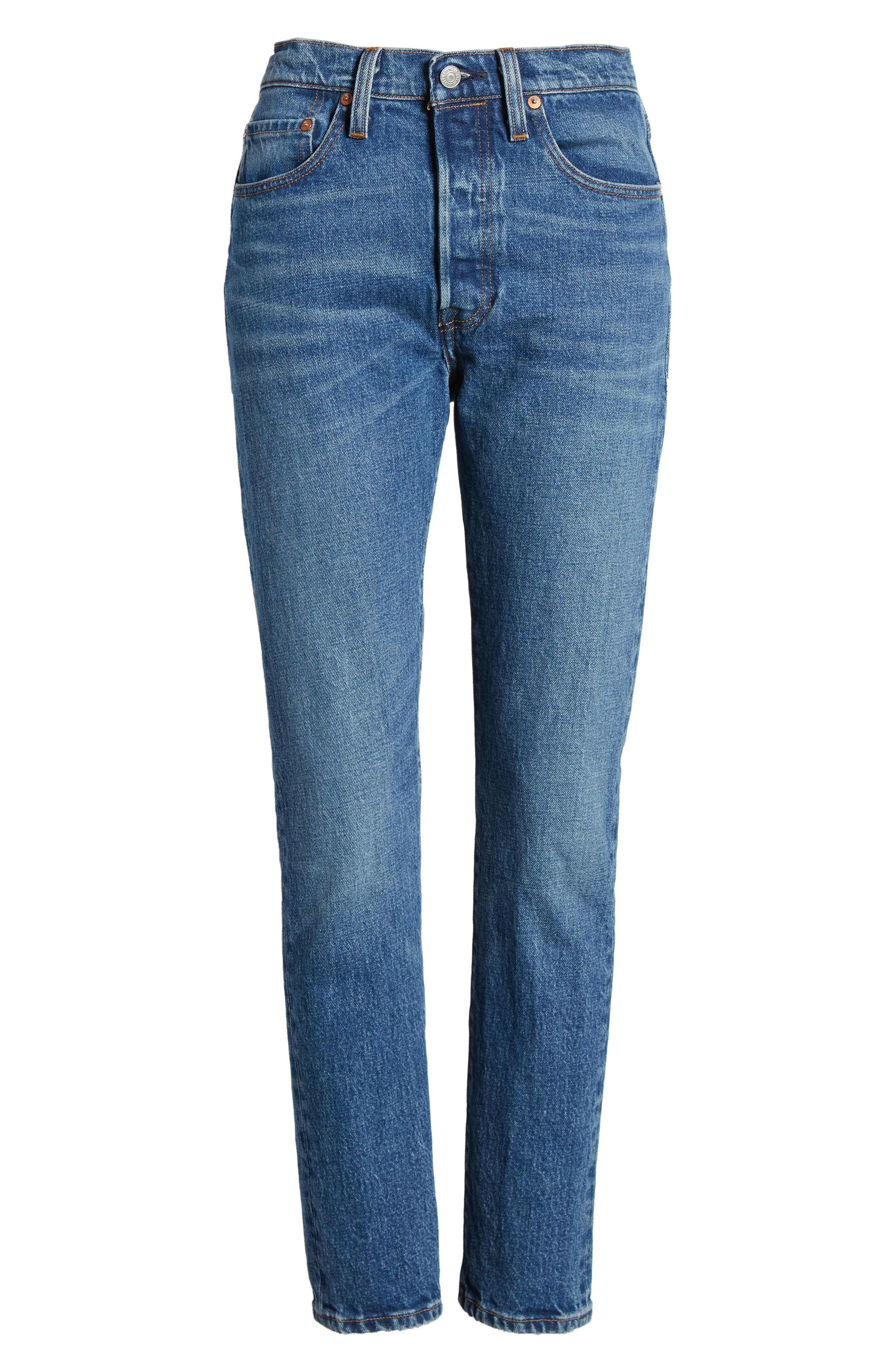 501<sup>™</sup> High Waist Skinny Jeans,                             Alternate thumbnail 6, color,                             WE THE PEOPLE