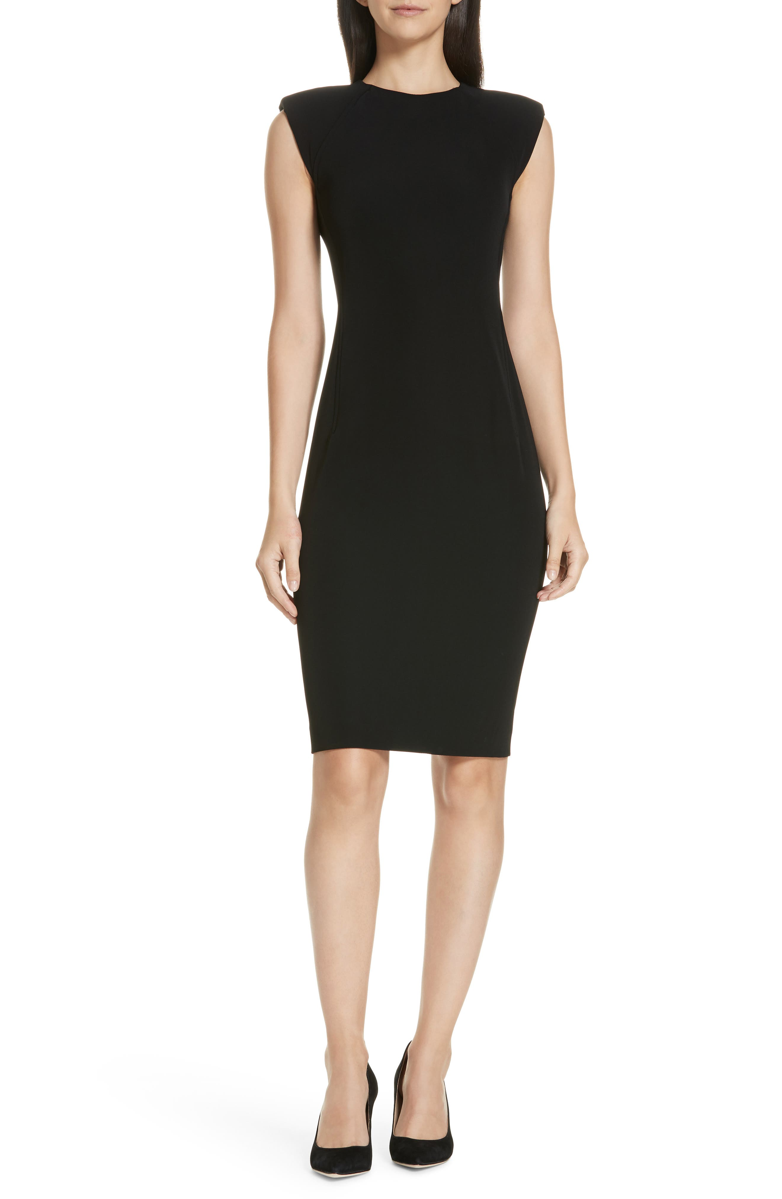 Stretch Body-Con Dress,                             Main thumbnail 1, color,                             001
