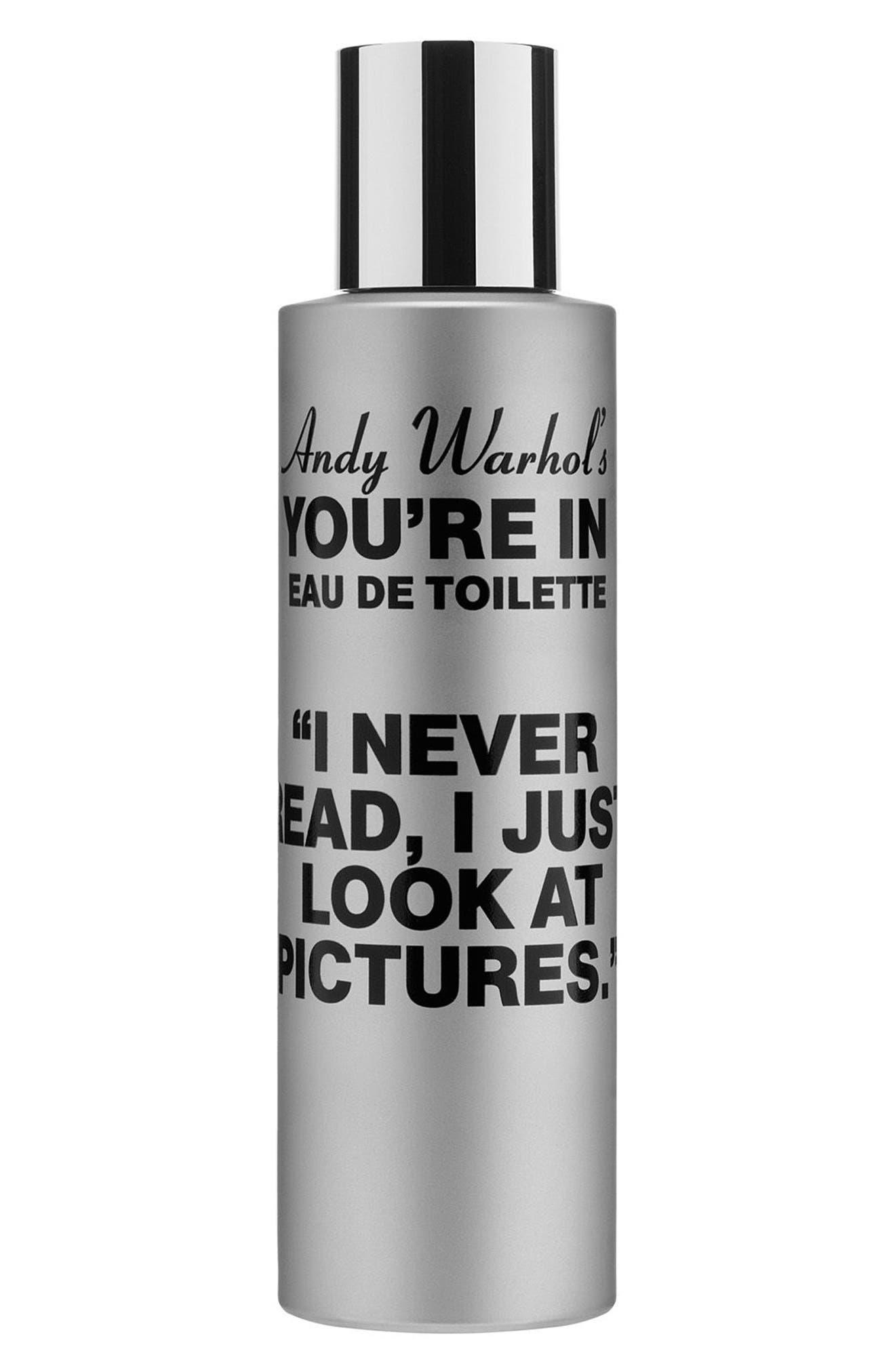 Andy Warhol You're In Unisex Eau de Toilette,                             Main thumbnail 1, color,                             I NEVER READ