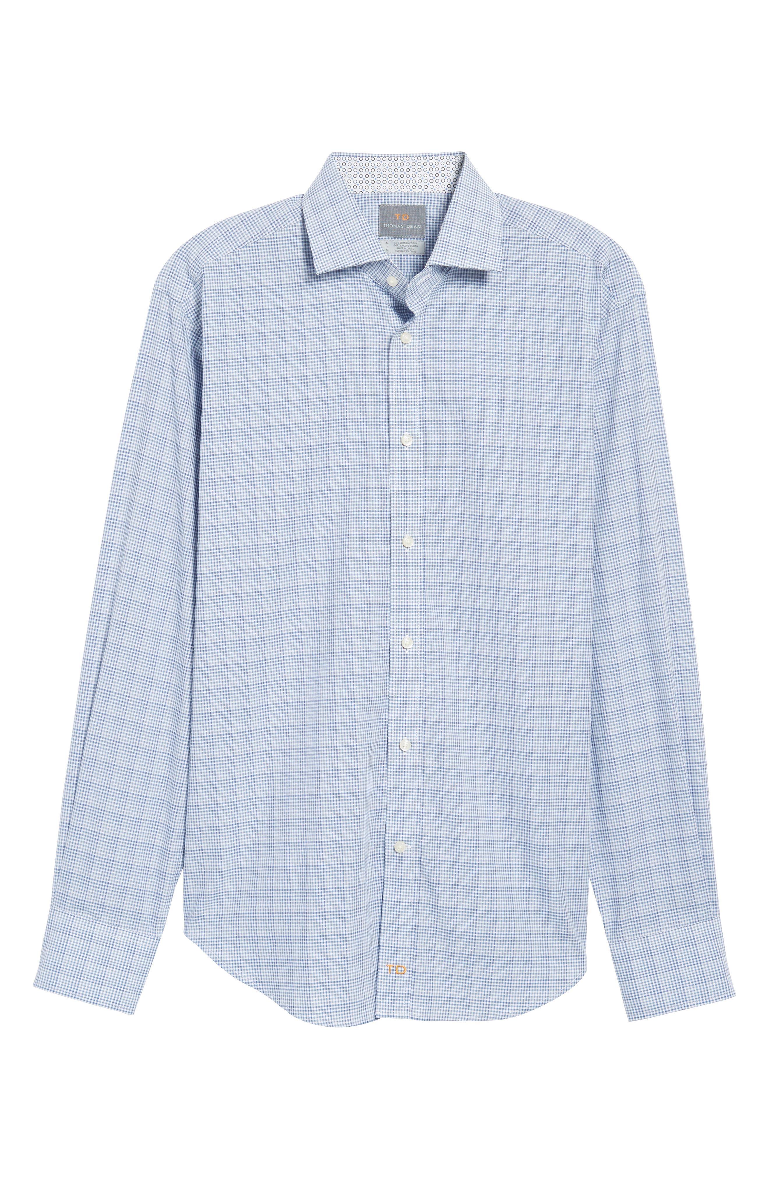 Regular Fit Dobby Check Sport Shirt,                             Alternate thumbnail 6, color,                             400