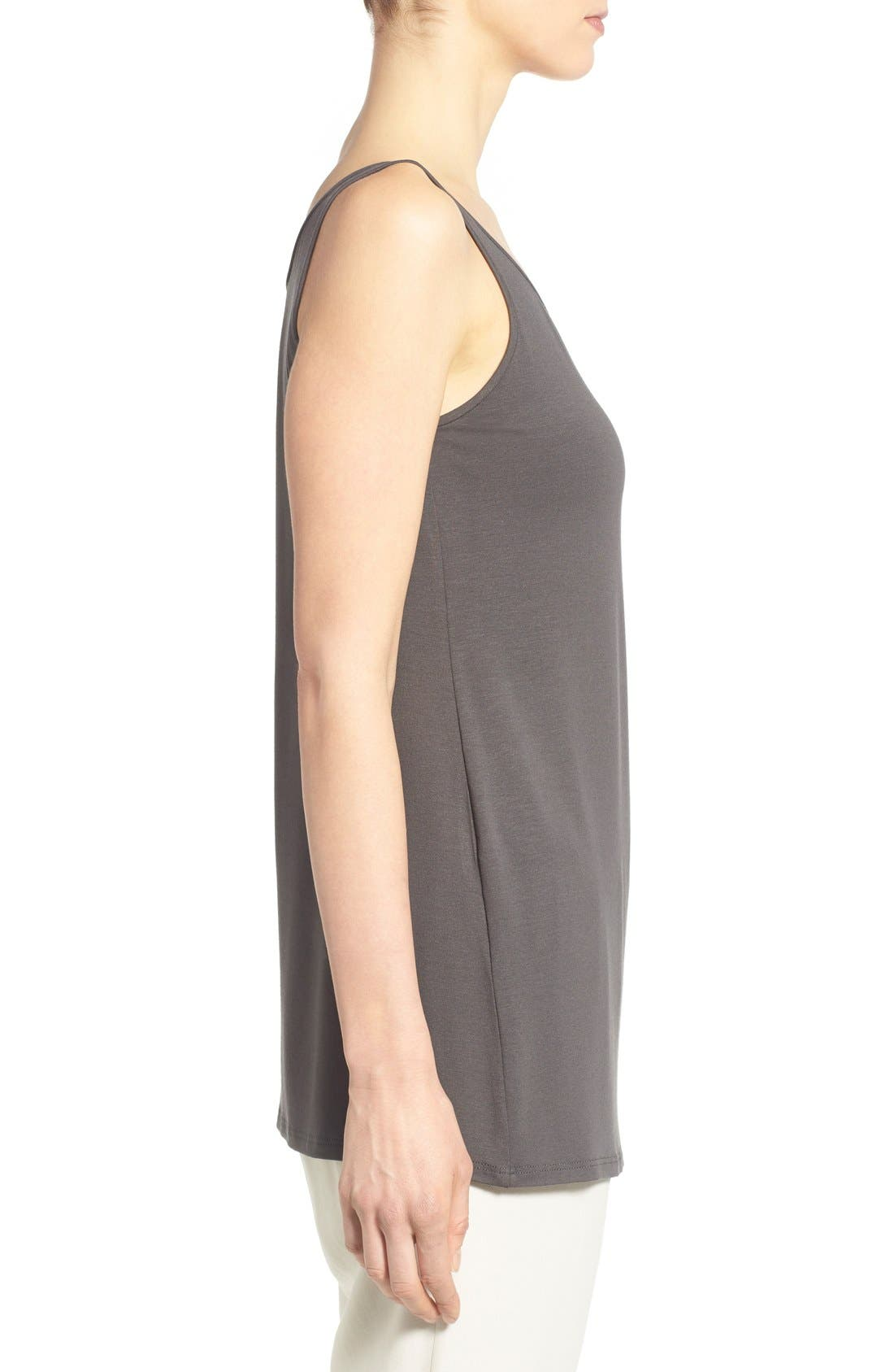 Jersey Scoop Neck Long Tank,                             Alternate thumbnail 54, color,