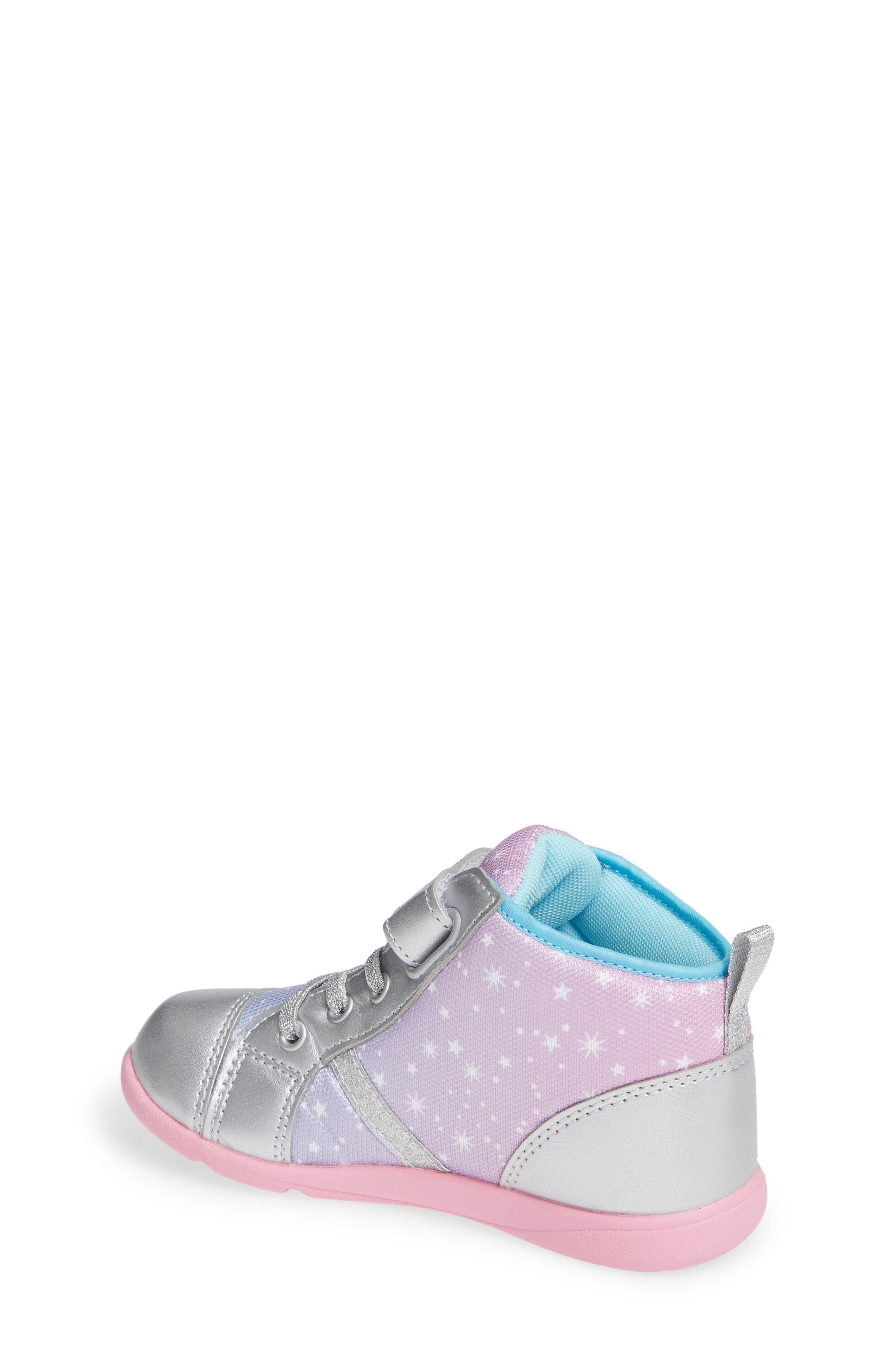 Star Washable Sneaker,                             Alternate thumbnail 2, color,                             SILVER/ PINK