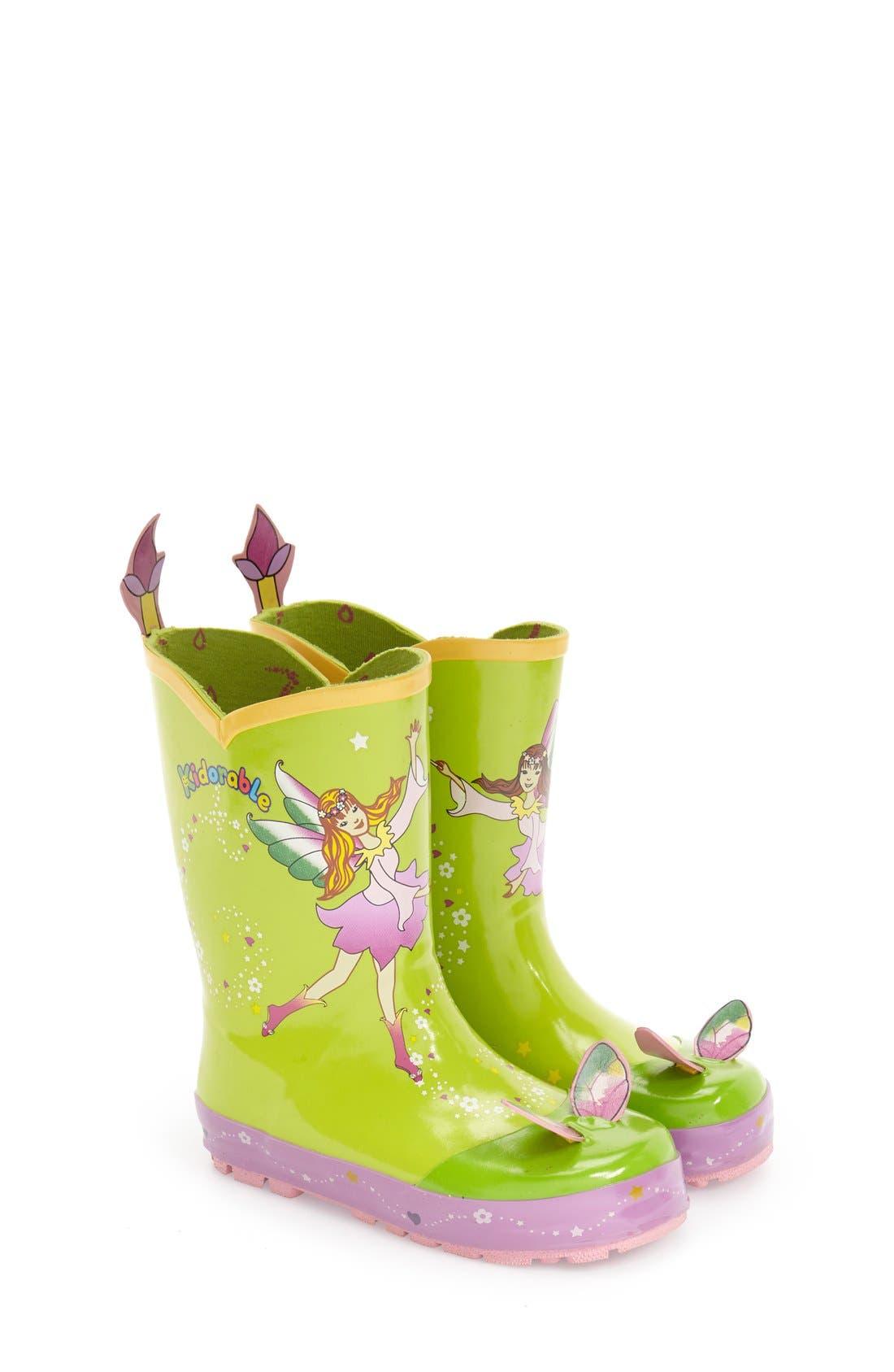 'Fairy' Waterproof Rain Boot,                             Main thumbnail 1, color,