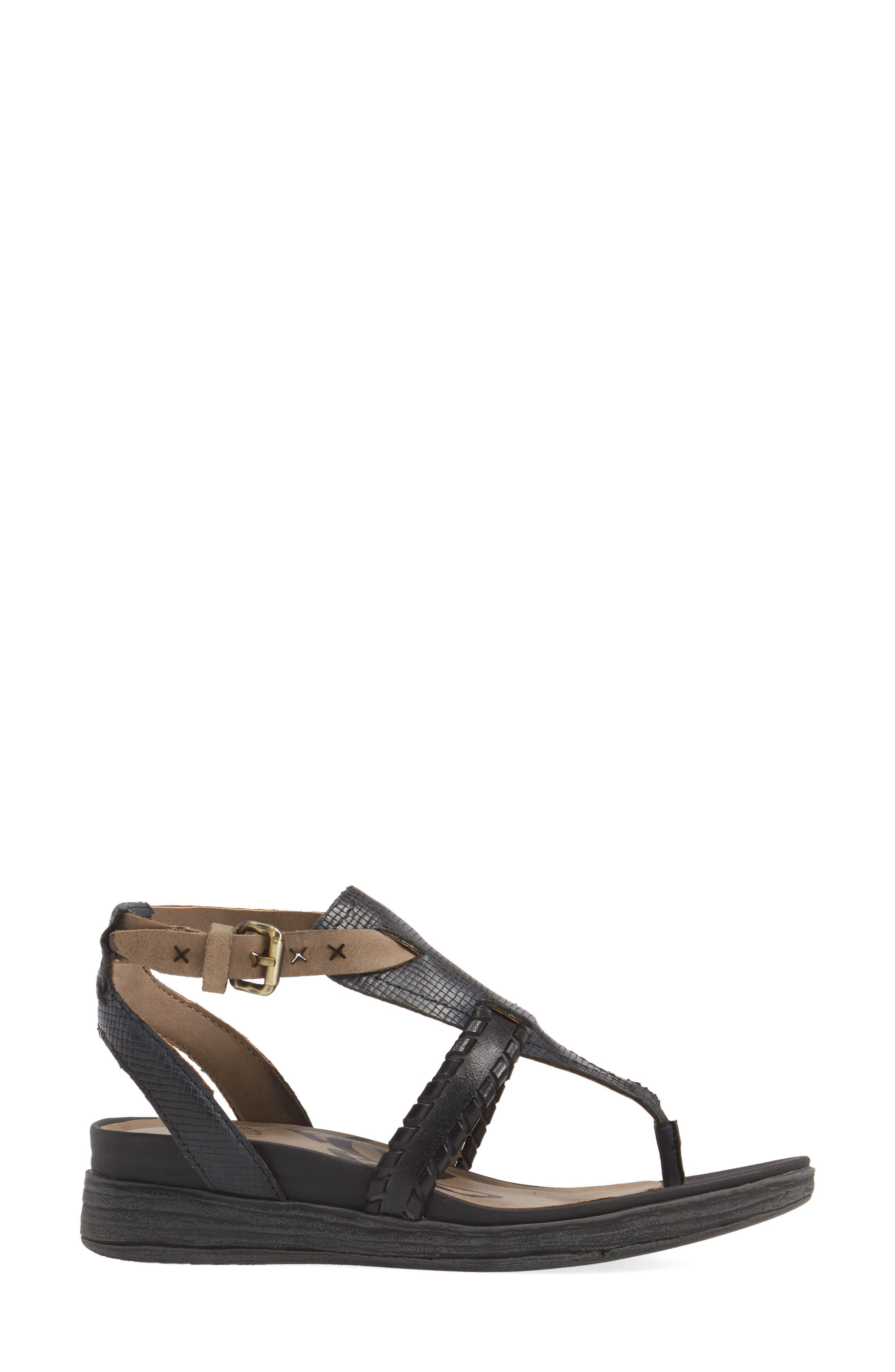 Celestial V-Strap Wedge Sandal,                             Alternate thumbnail 3, color,                             001