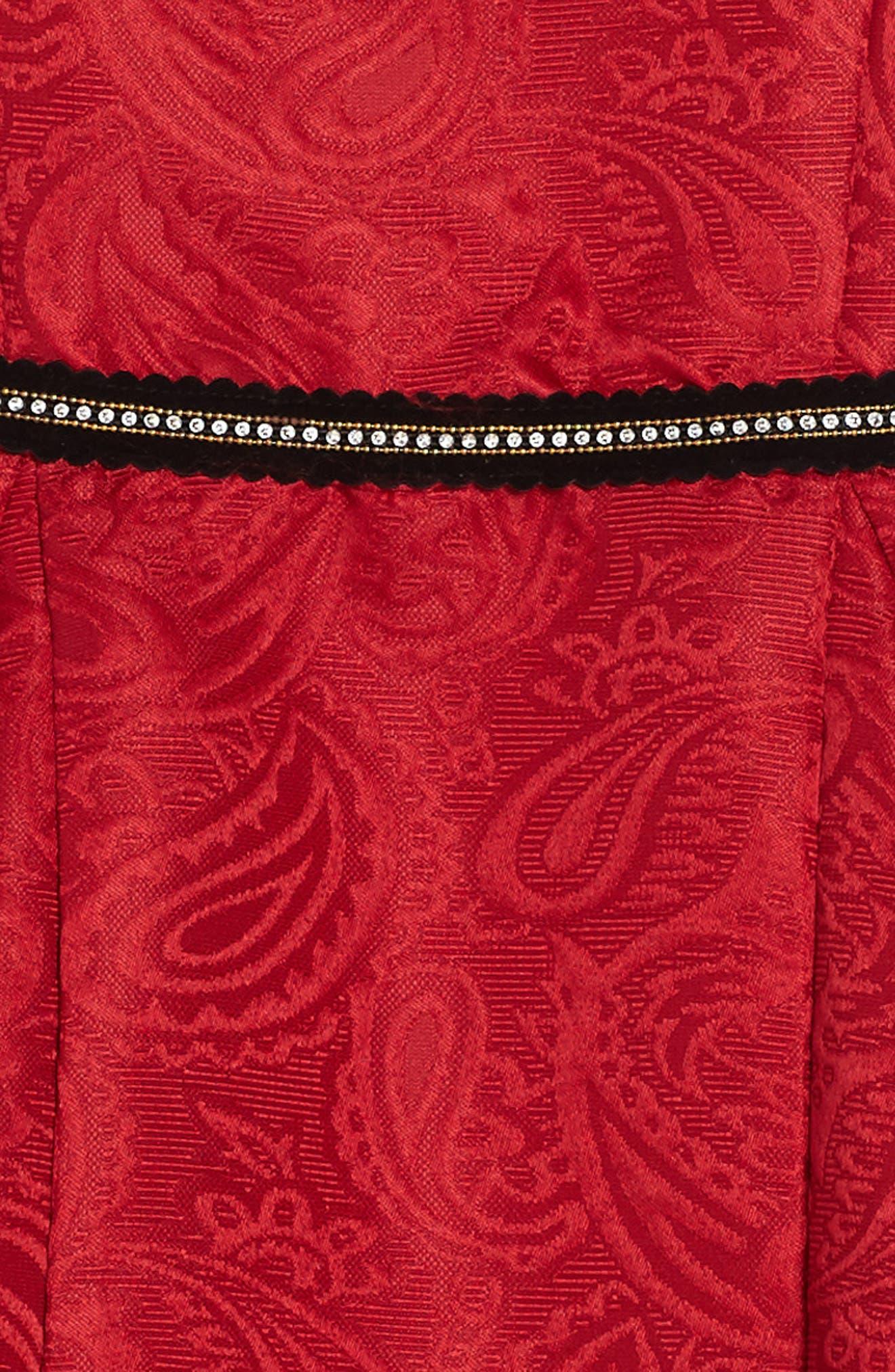Hannah Jacquard Dress,                             Alternate thumbnail 3, color,                             600