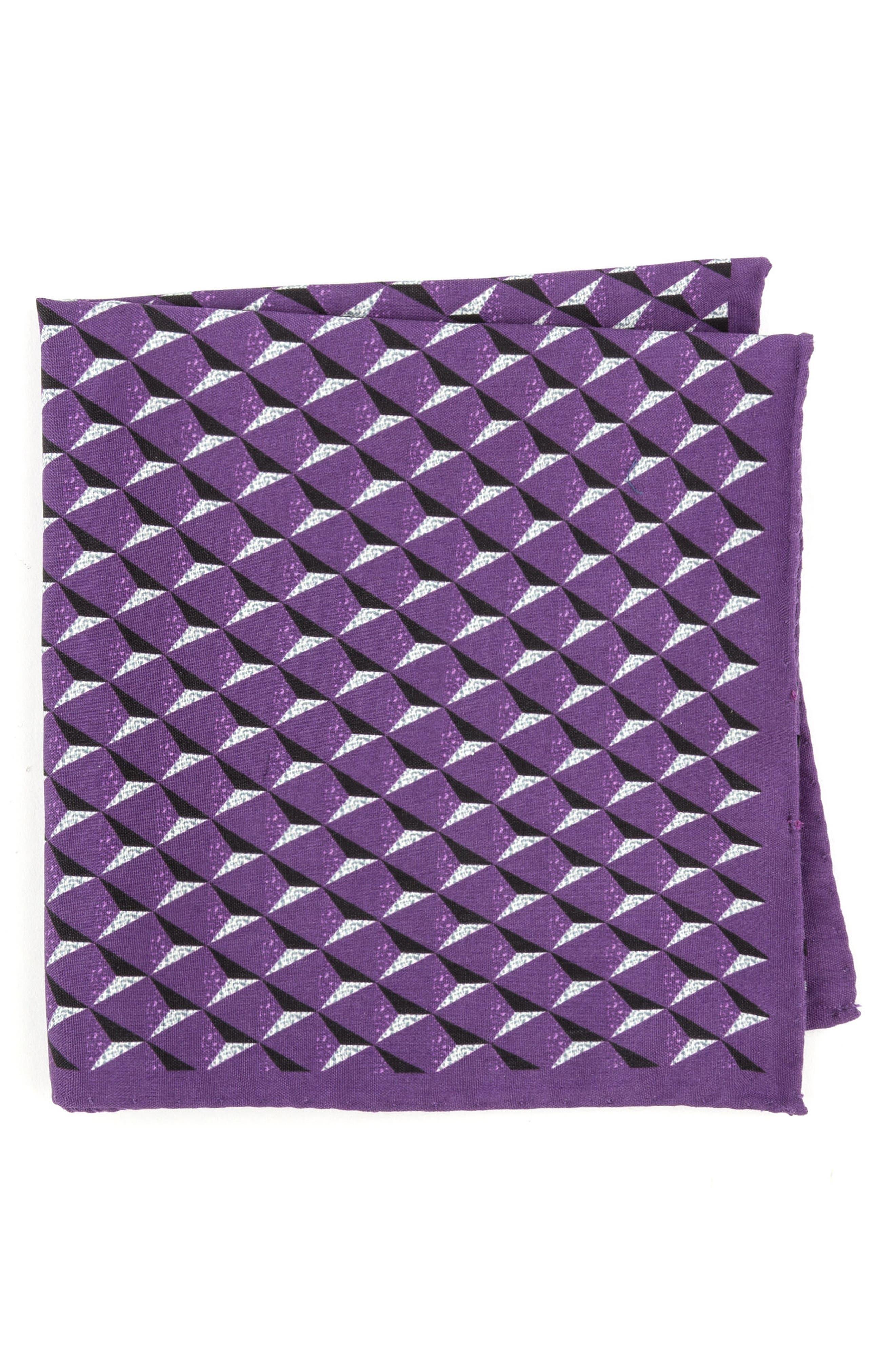Geometric Silk Pocket Square,                             Main thumbnail 5, color,