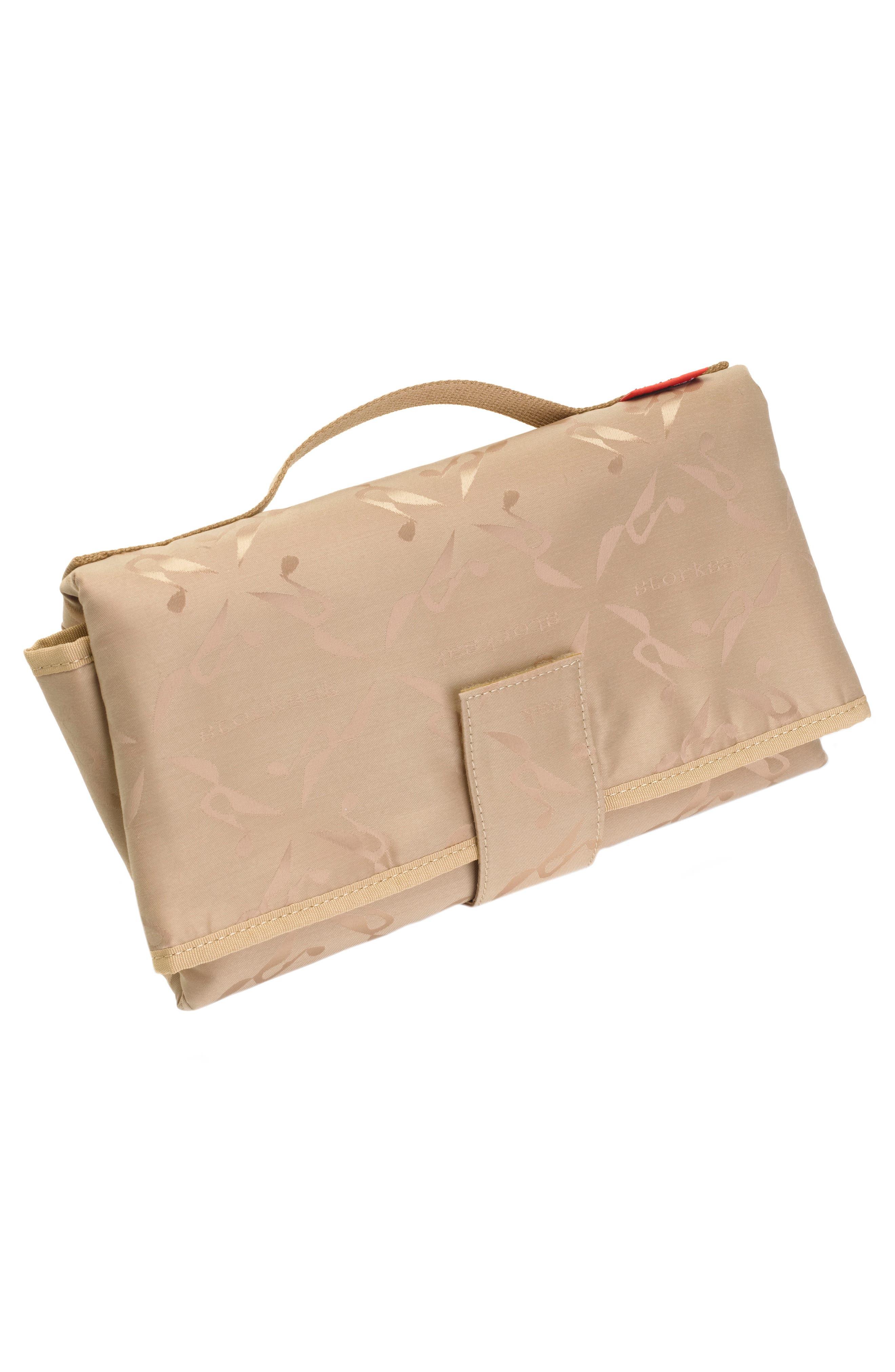Kym Calfskin Leather Diaper Tote Bag,                             Alternate thumbnail 11, color,                             BLACK