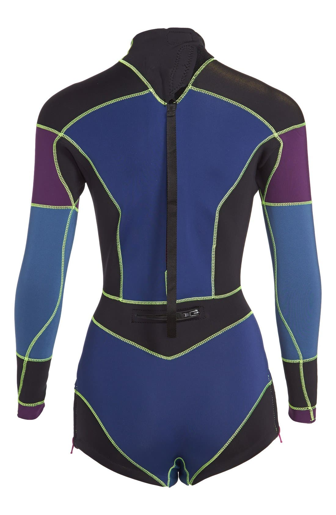 CYNTHIA ROWLEY,                             Colorblock Wetsuit,                             Alternate thumbnail 2, color,                             410