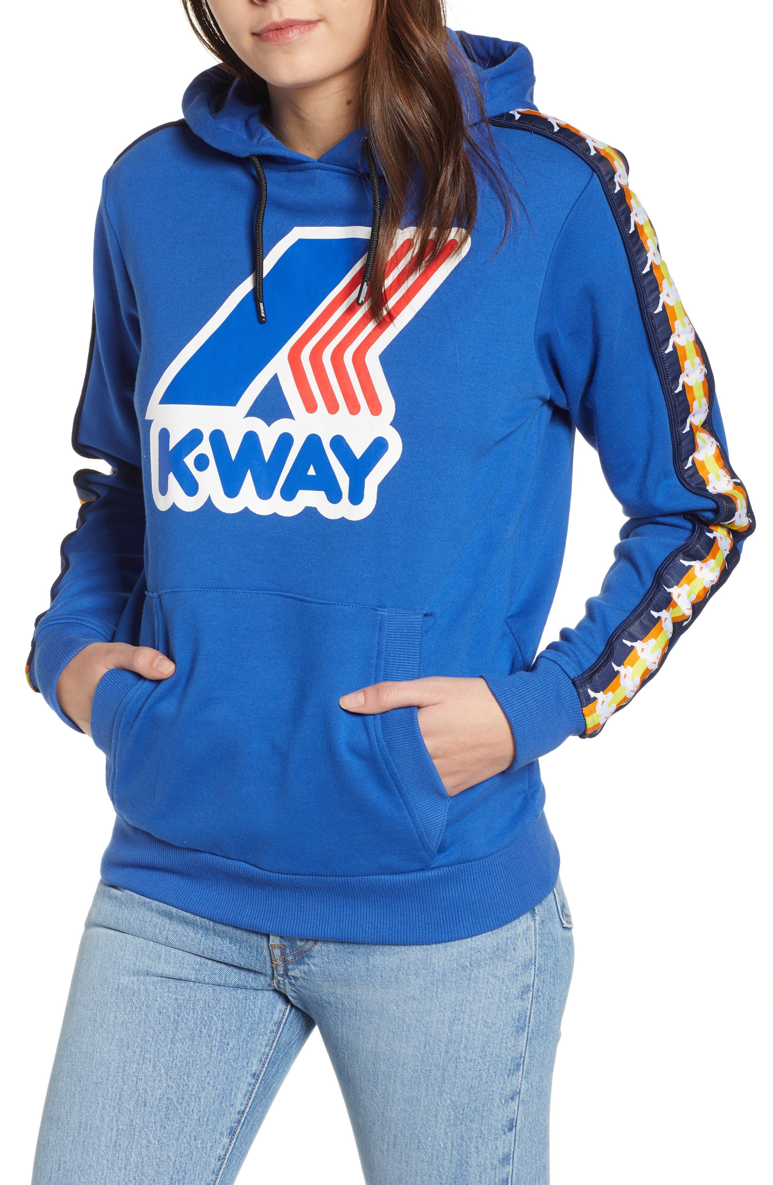 K-Way X Kappa Le Vrai Bob Banda Hoodie, Blue