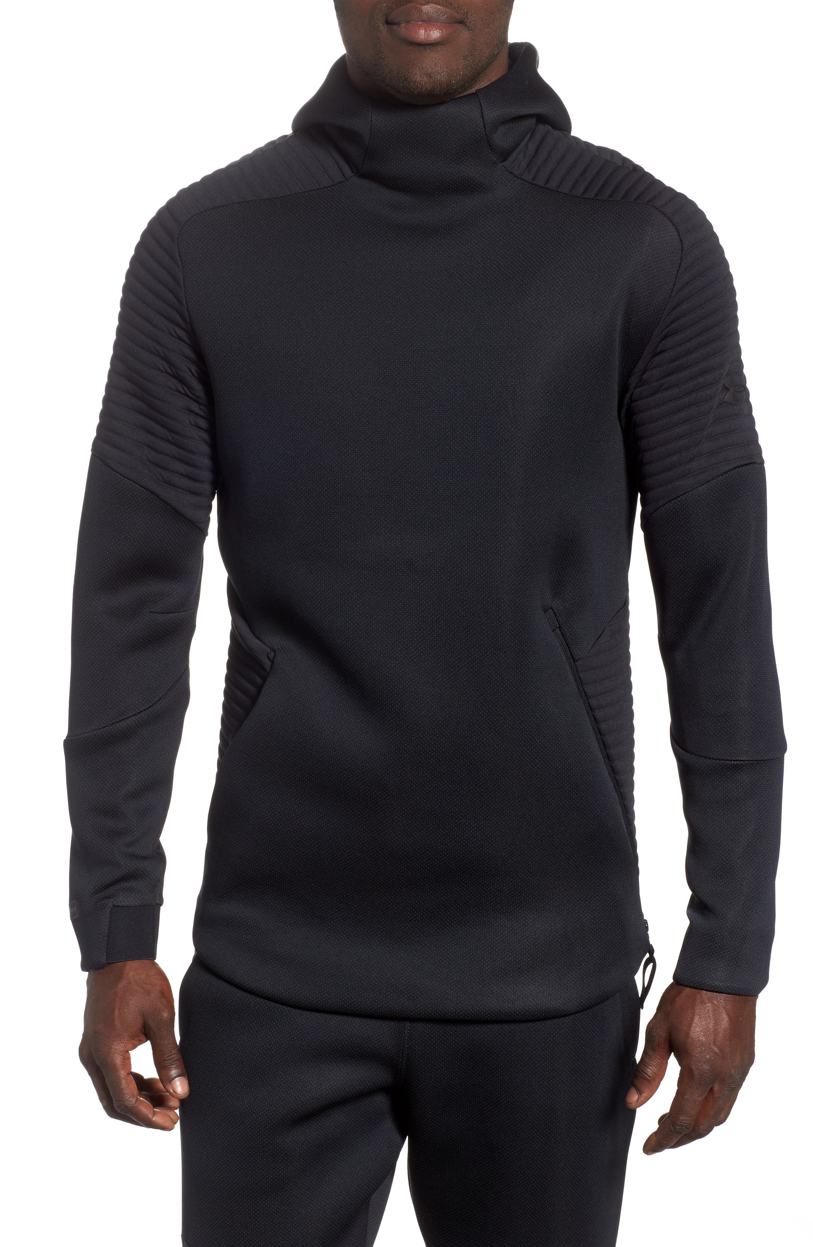 Unstoppable /MOVE Hoodie,                         Main,                         color, BLACK/ CHARCOAL/ BLACK