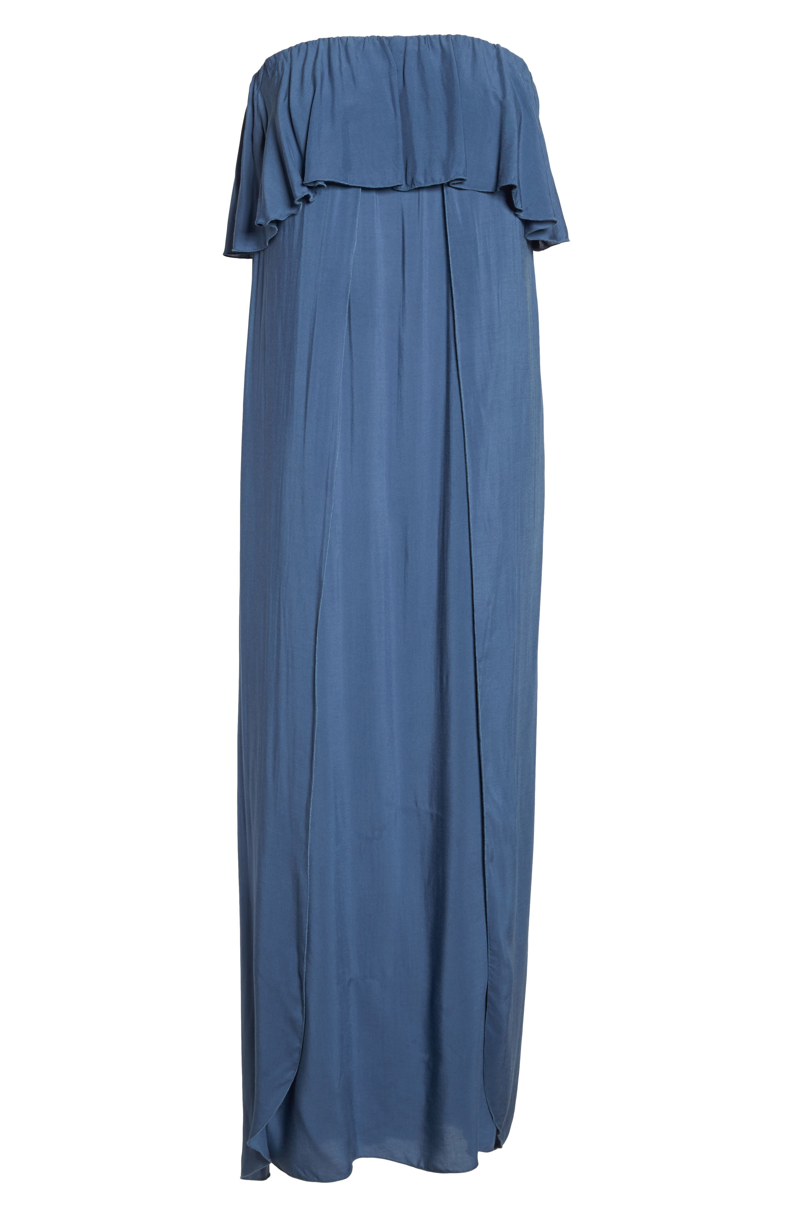 Strapless Maxi Cover-Up Dress,                             Alternate thumbnail 6, color,