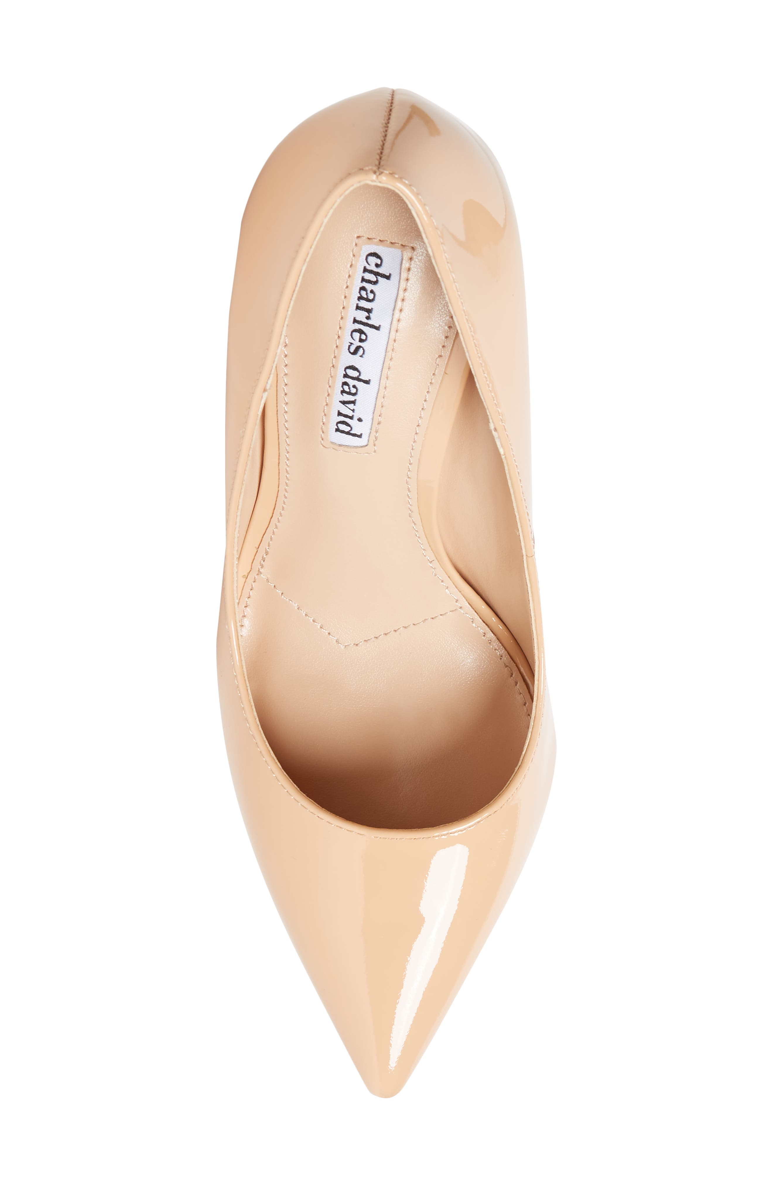 Calessi Pointy Toe Pump,                             Alternate thumbnail 5, color,                             PETAL PATENT LEATHER