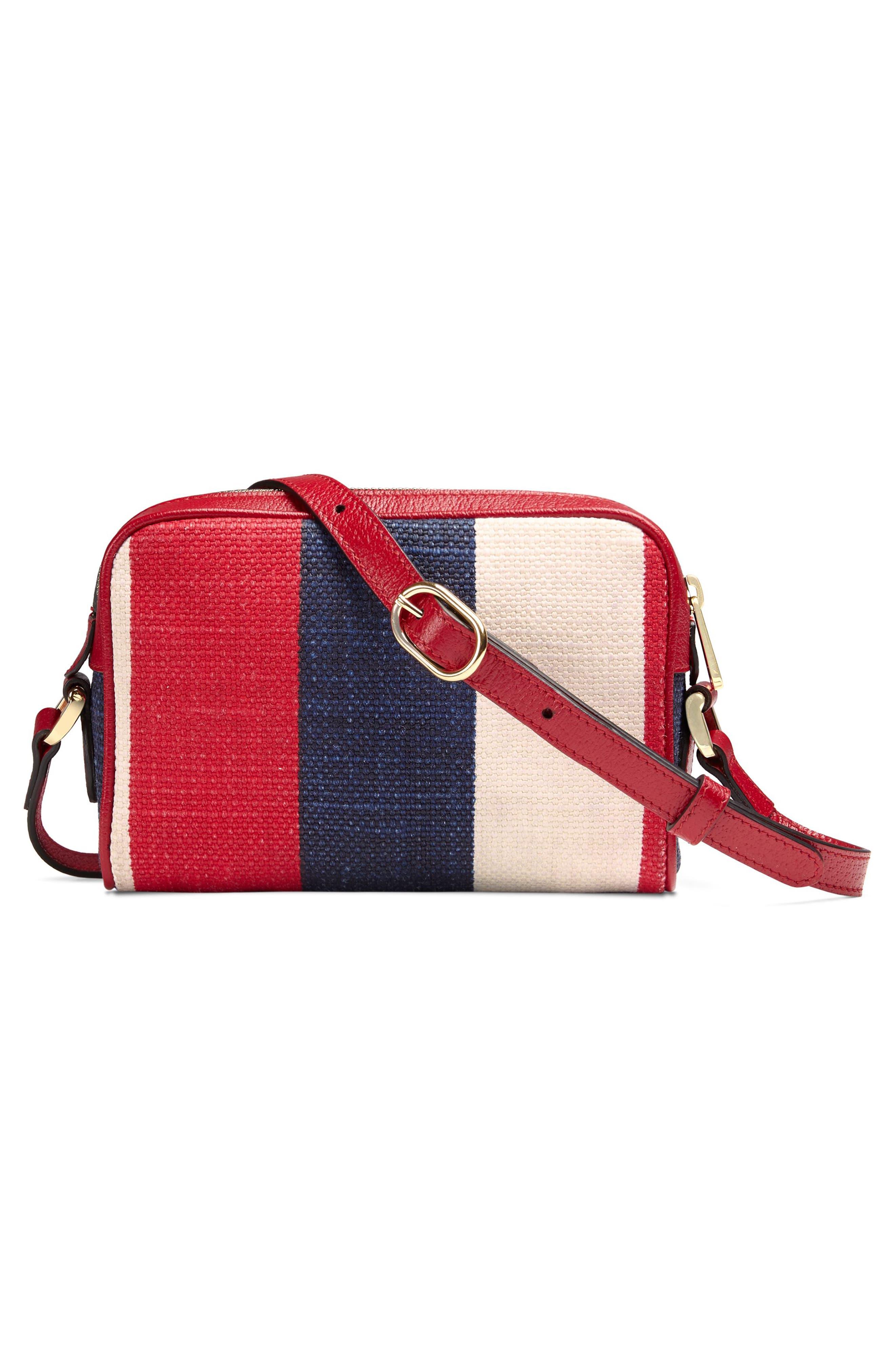 Ophidia Washed Cotton Stripe Mini Bag,                             Alternate thumbnail 2, color,