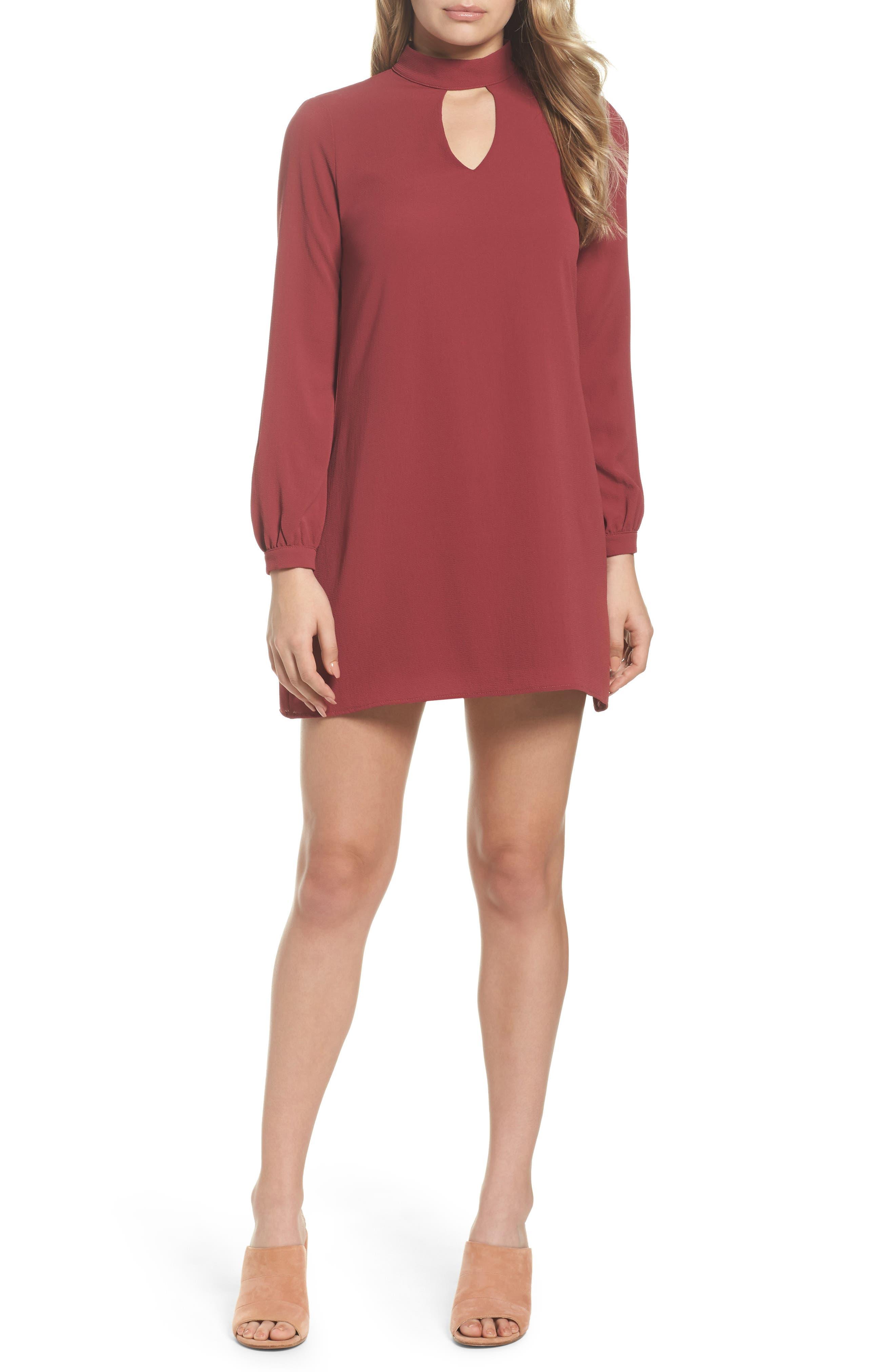 Choker Shift Dress,                         Main,                         color, 934