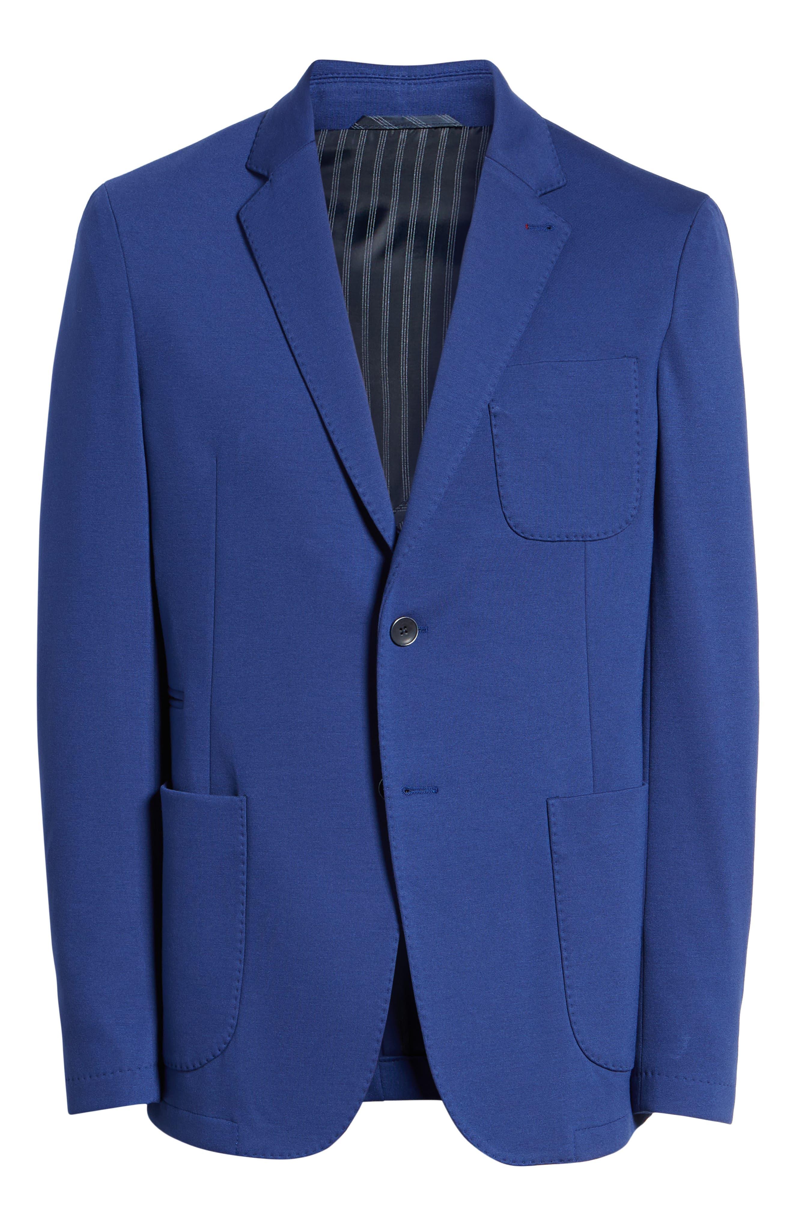 Solid Sport Coat,                             Alternate thumbnail 5, color,                             NIGHT BLUE