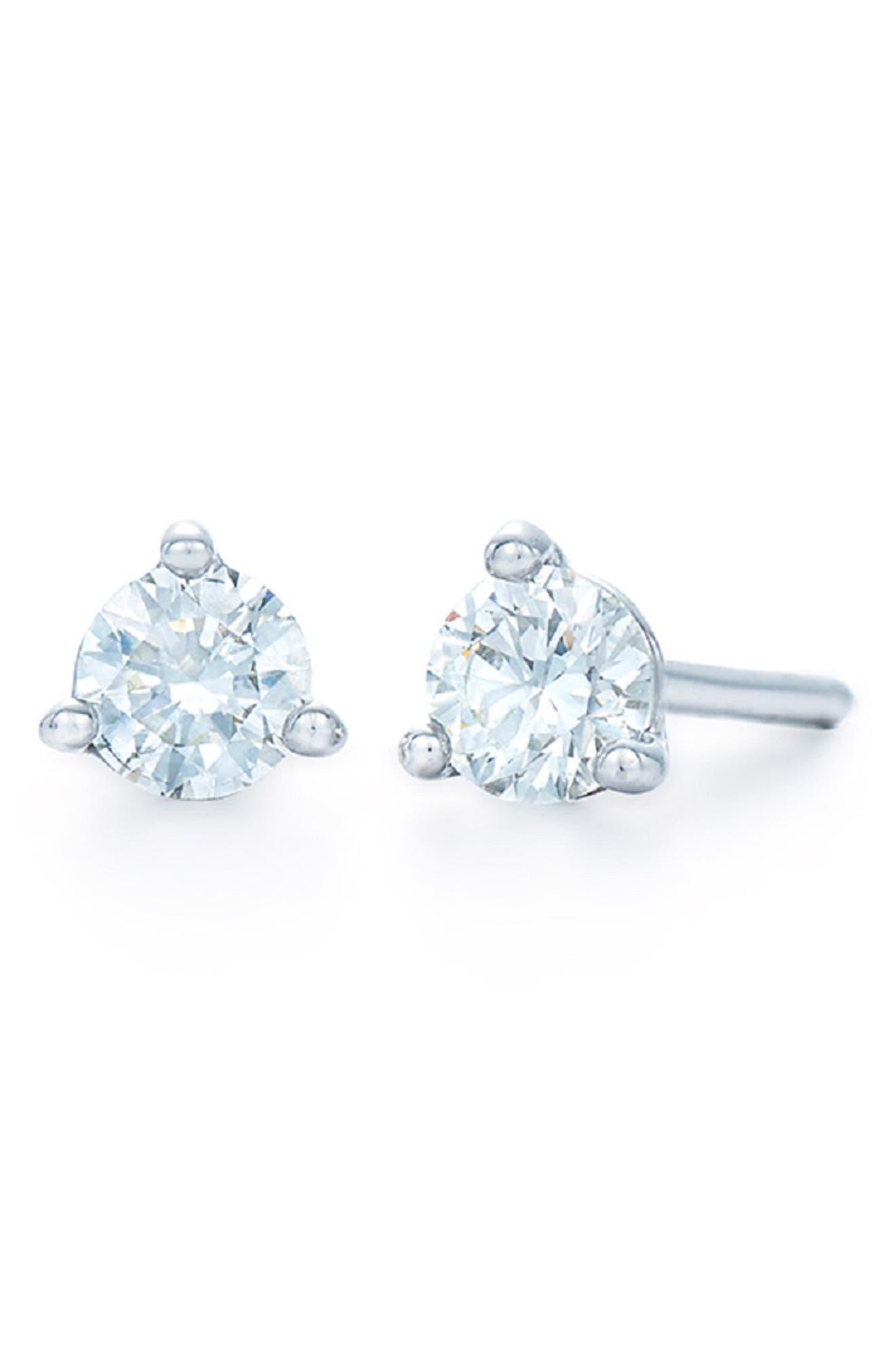 0.33ct tw Diamond & Platinum Stud Earrings,                             Alternate thumbnail 2, color,                             PLATINUM