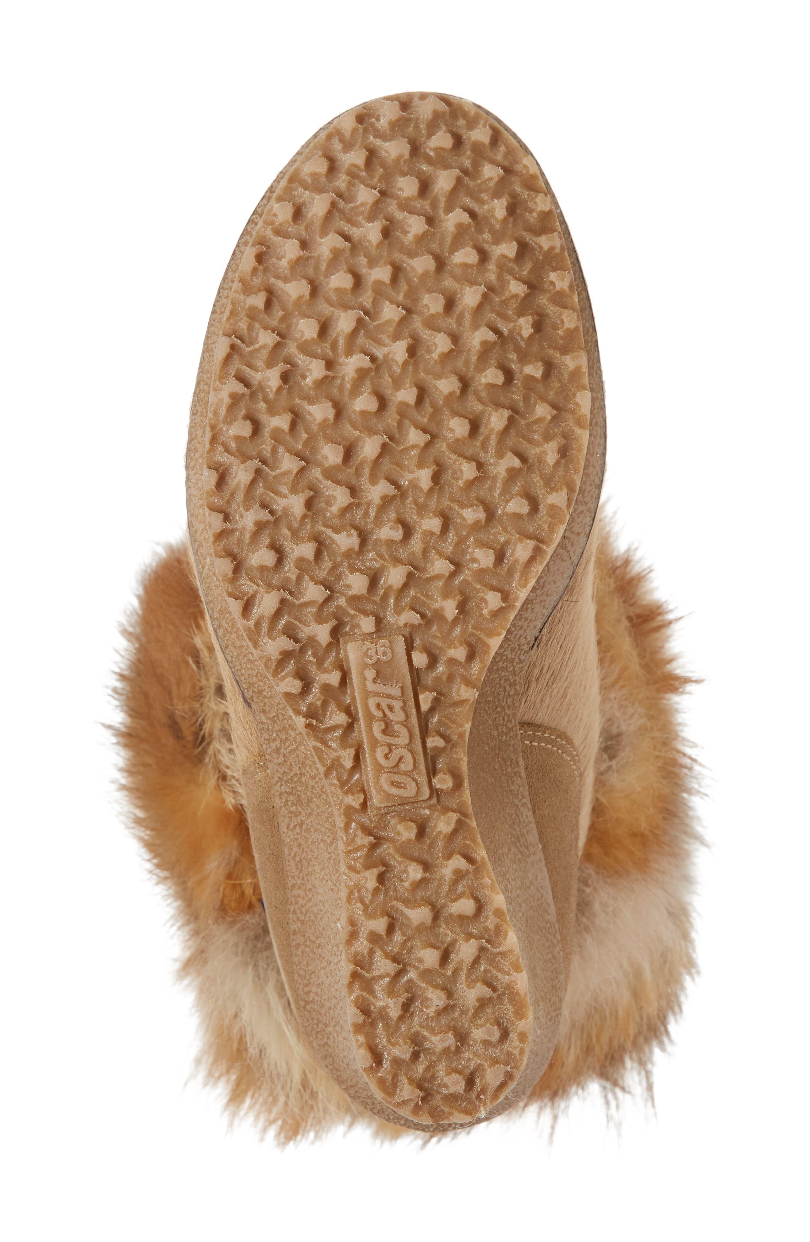 Angelina Genuine Fox Fur Wedge Boot,                             Alternate thumbnail 24, color,