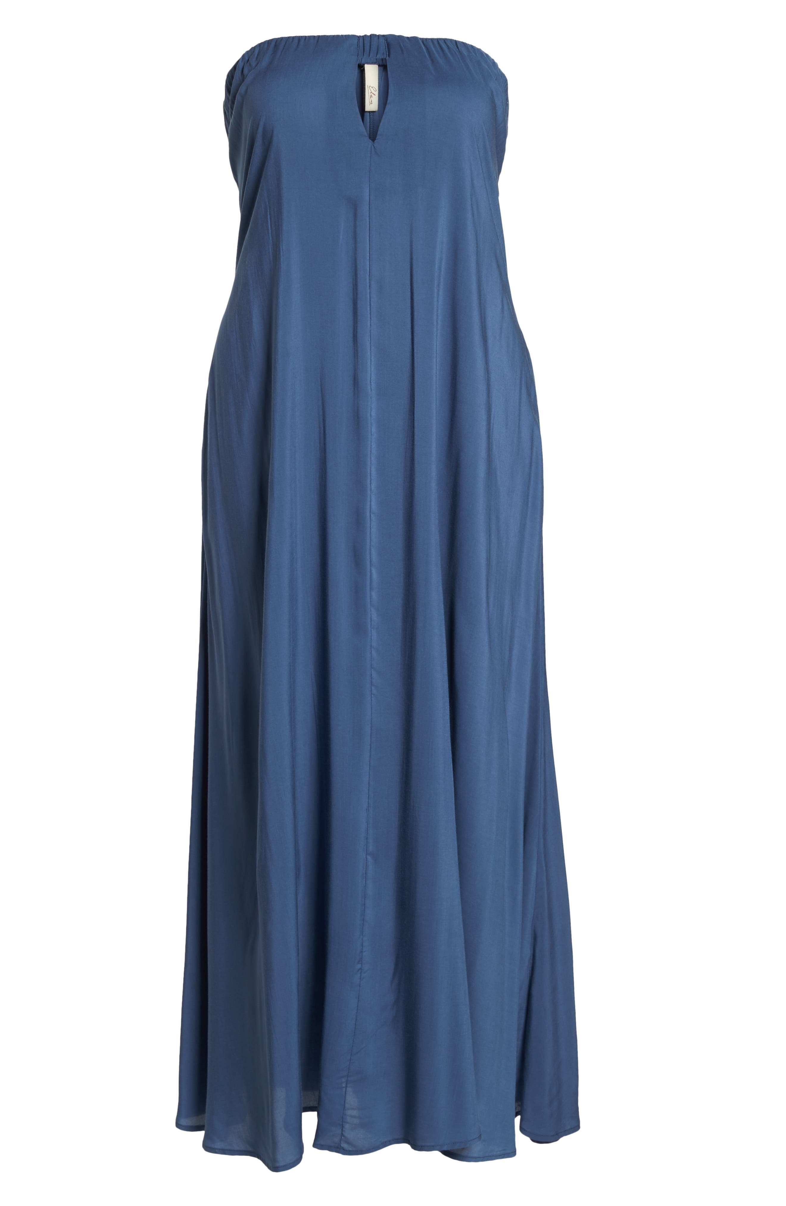 Strapless Keyhole Cover-Up Maxi Dress,                             Alternate thumbnail 6, color,                             462