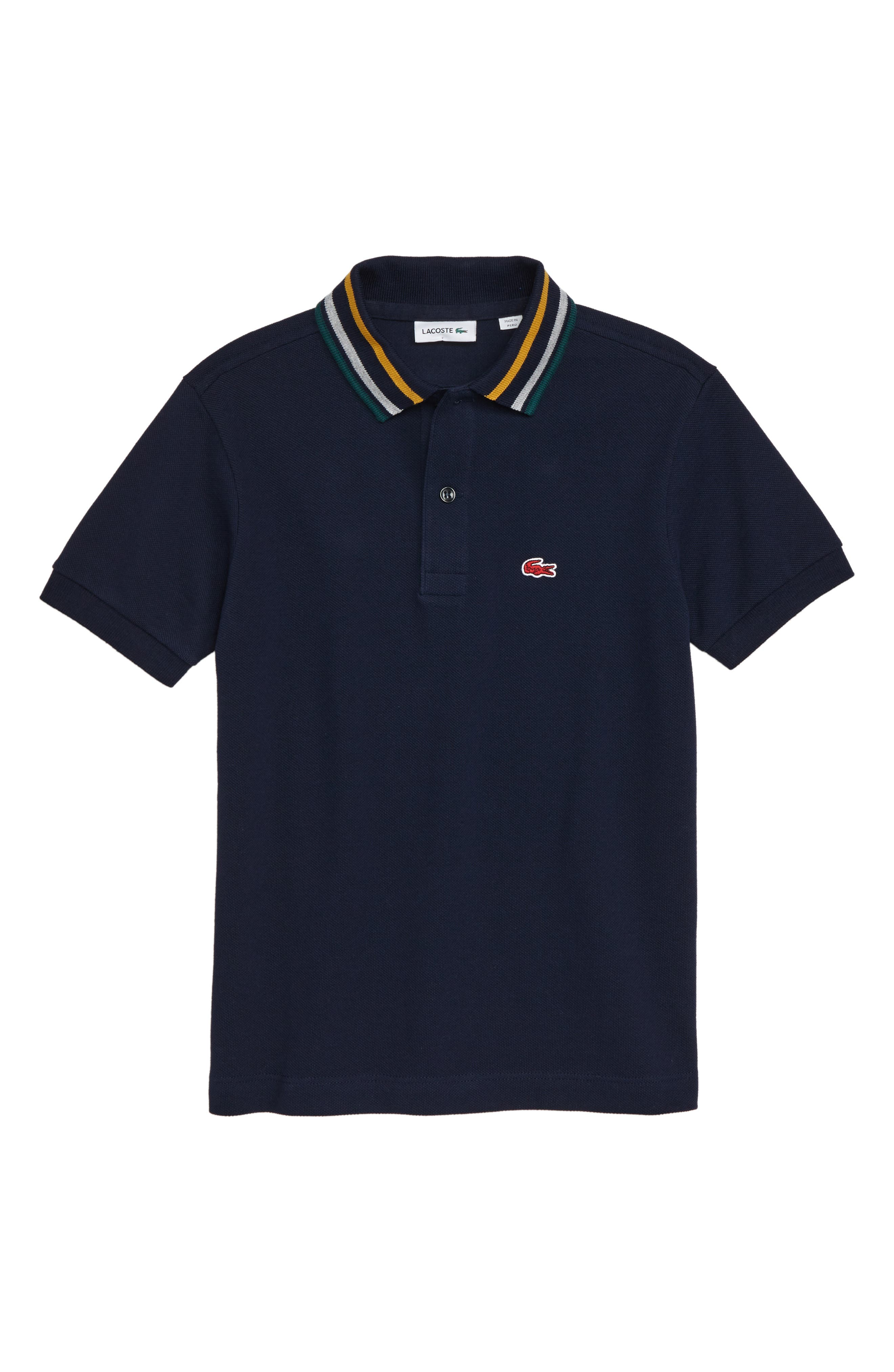 Semi Fancy Piqué Polo,                         Main,                         color, 410
